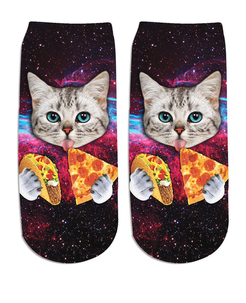 Taco Cat Ankle Socks