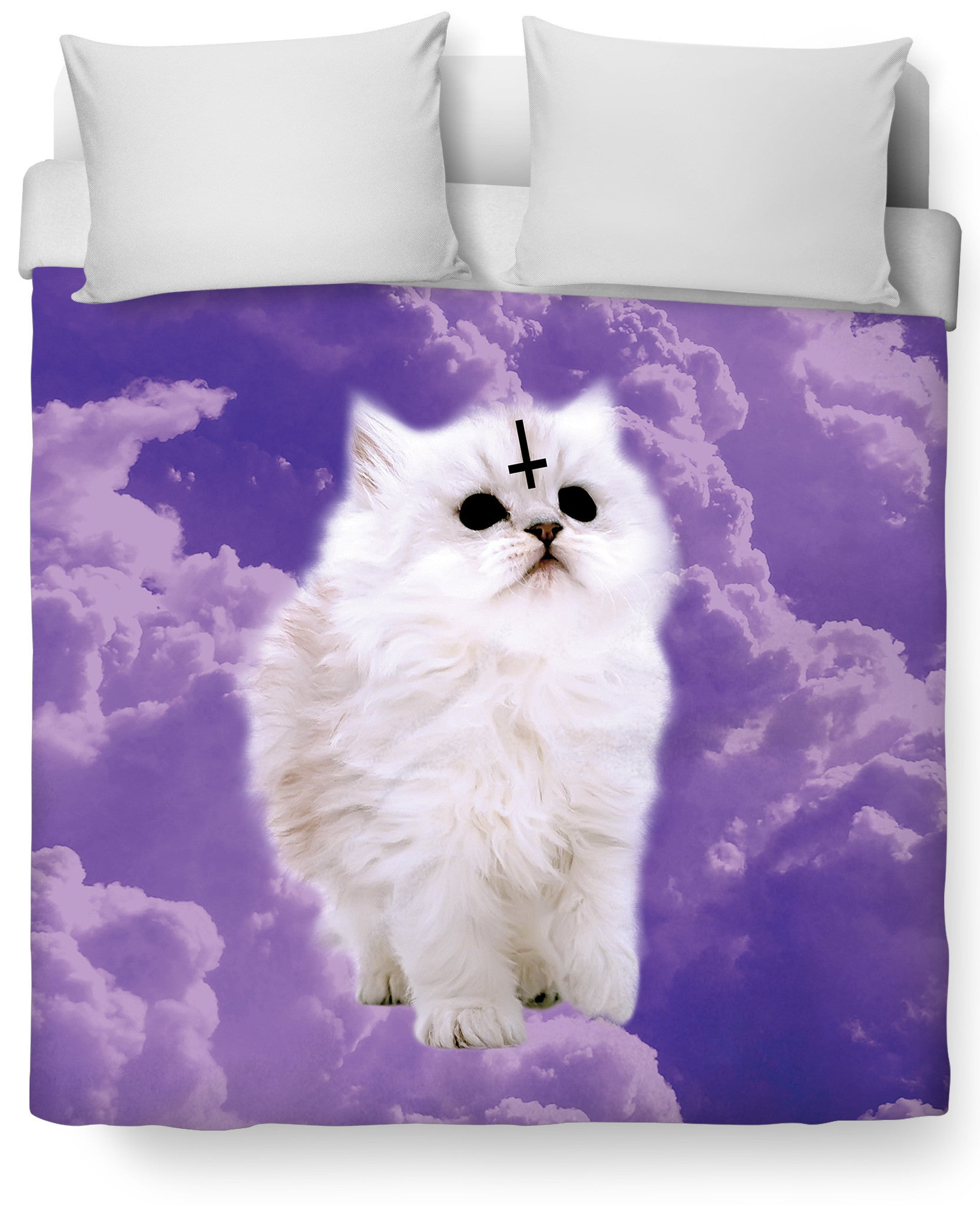 Satan Cat Duvet Cover