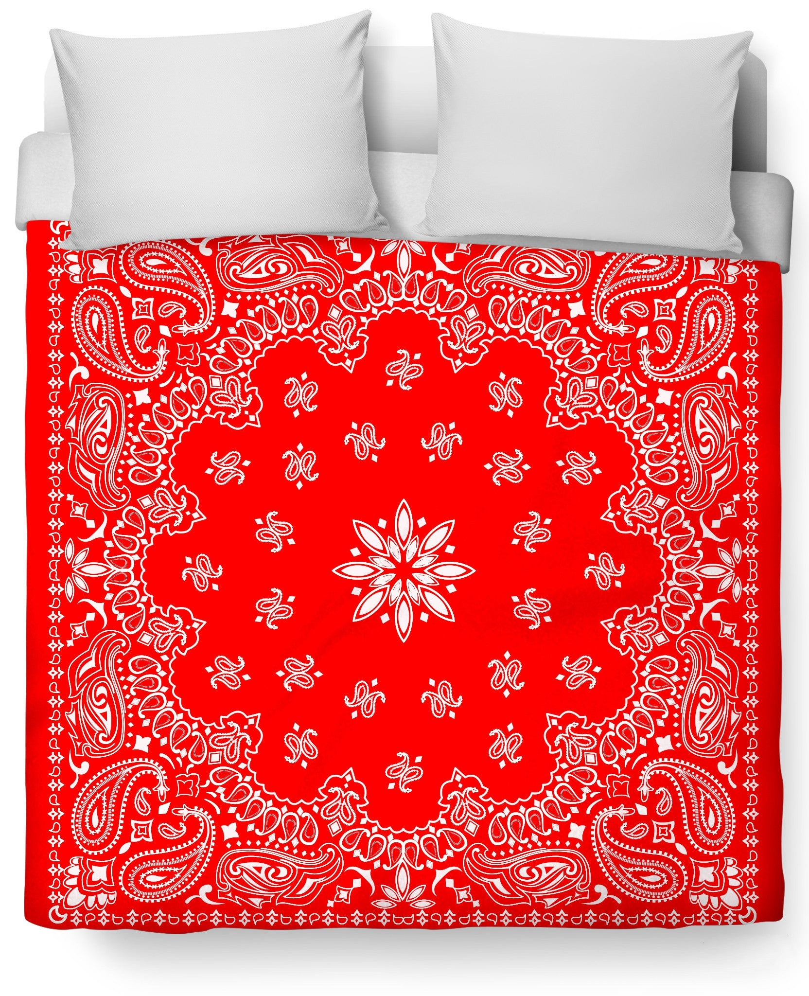 Red Bandana Duvet Cover