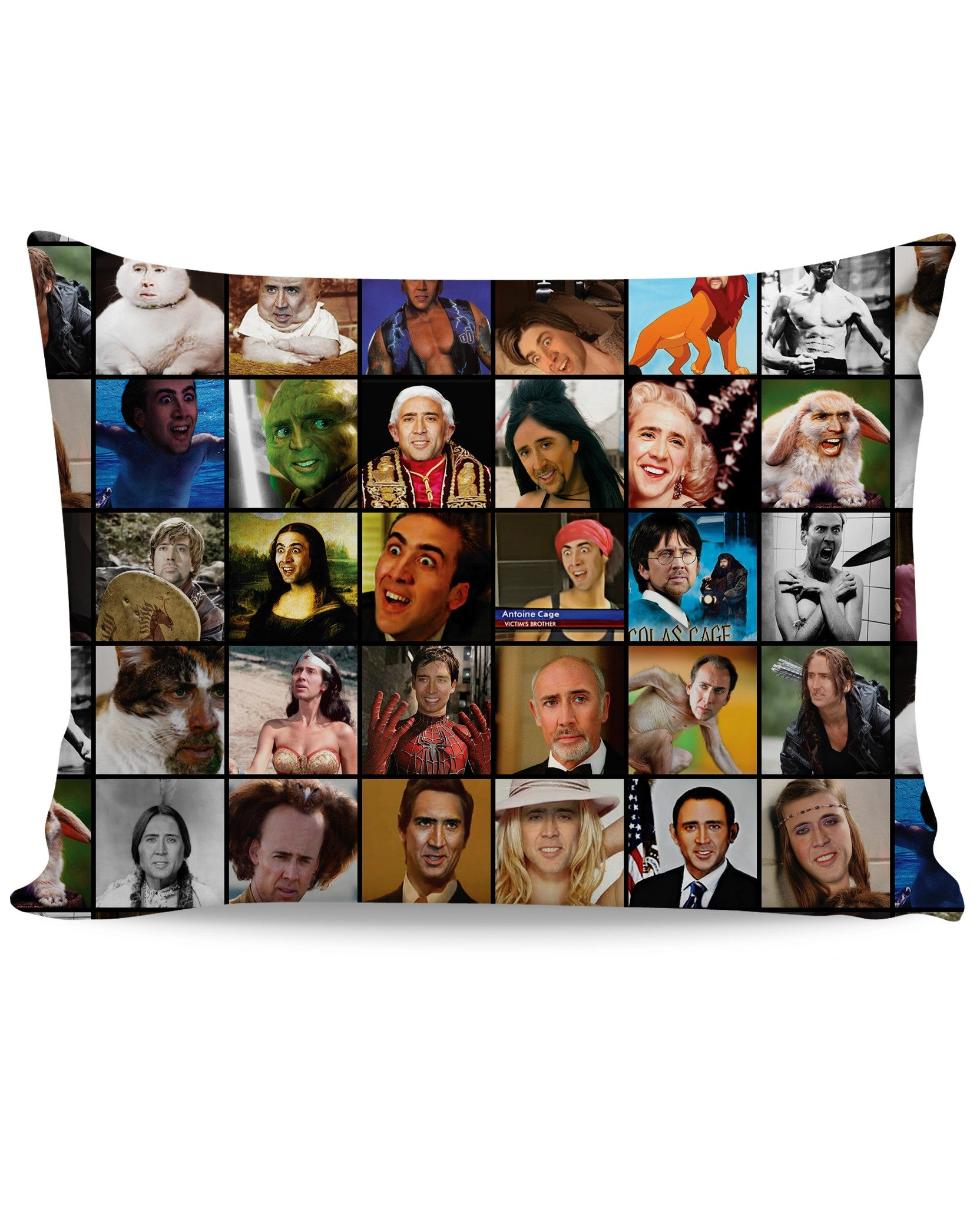 Nicolas Cage Rage Faces Pillow Case