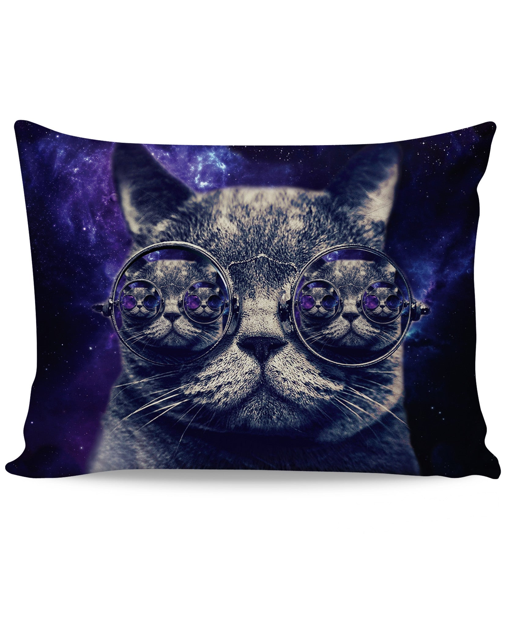 Hipster Cat Pillow Case