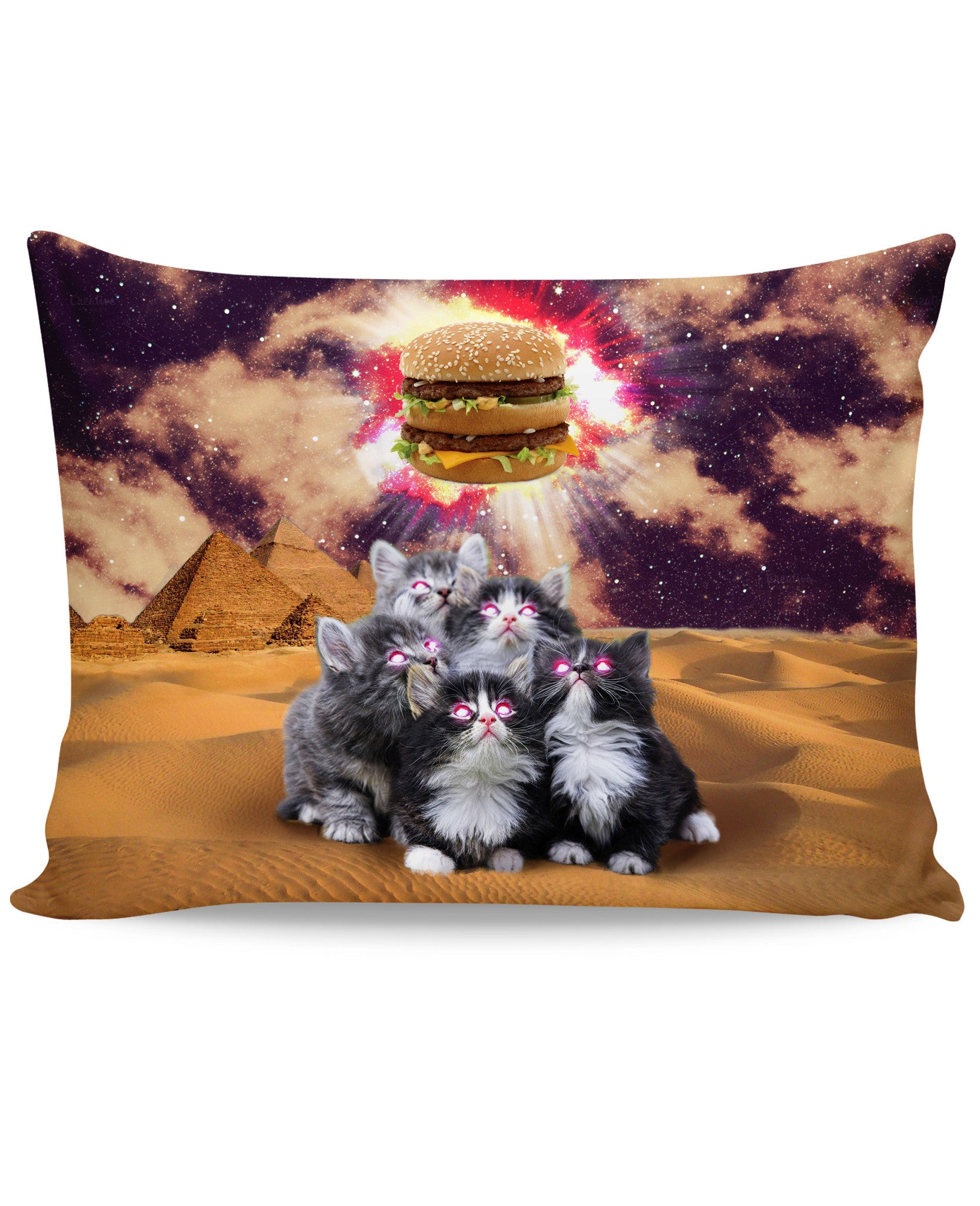 Worship the Burger Pillow Case