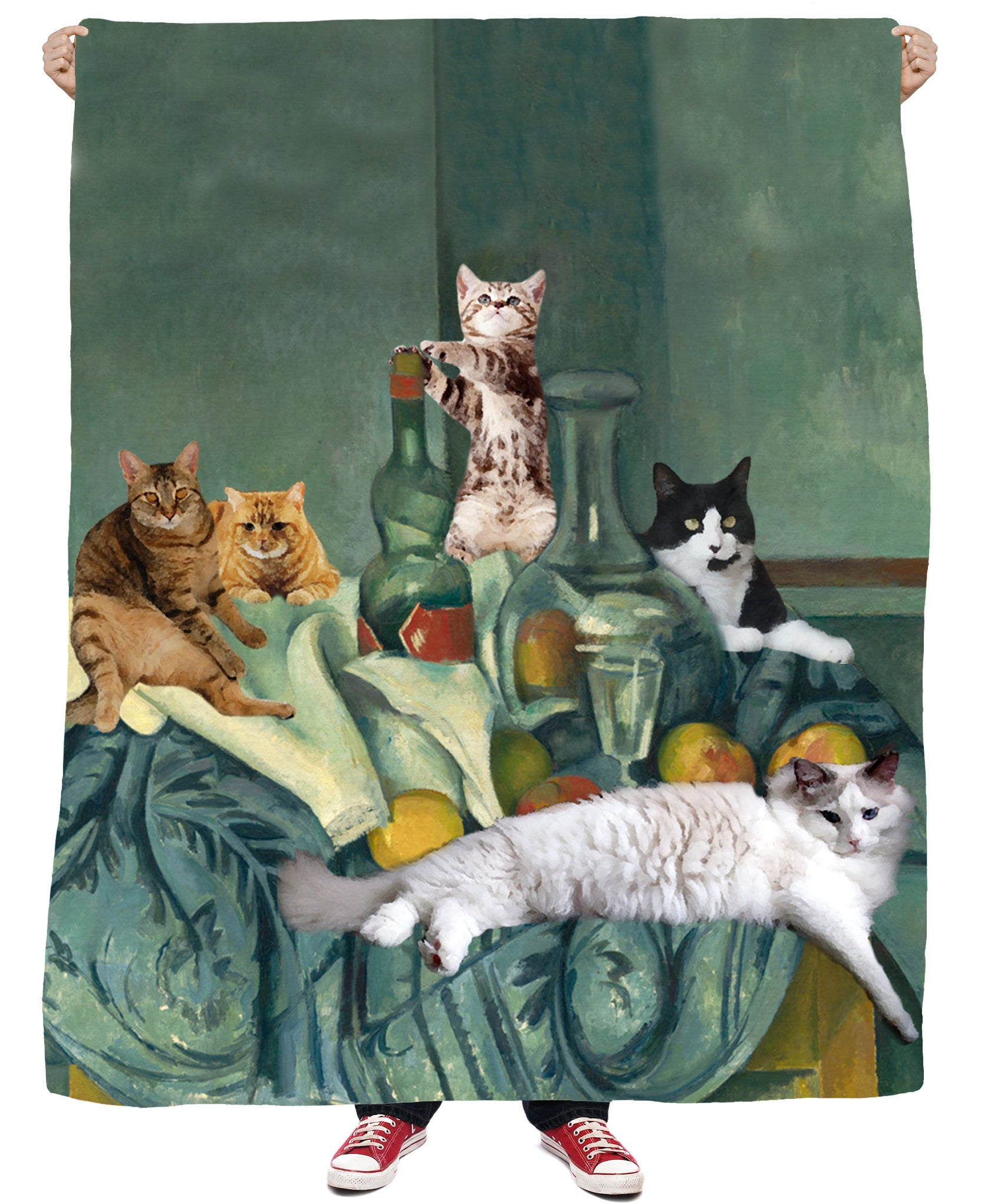 Still Cat Fleece Blanket