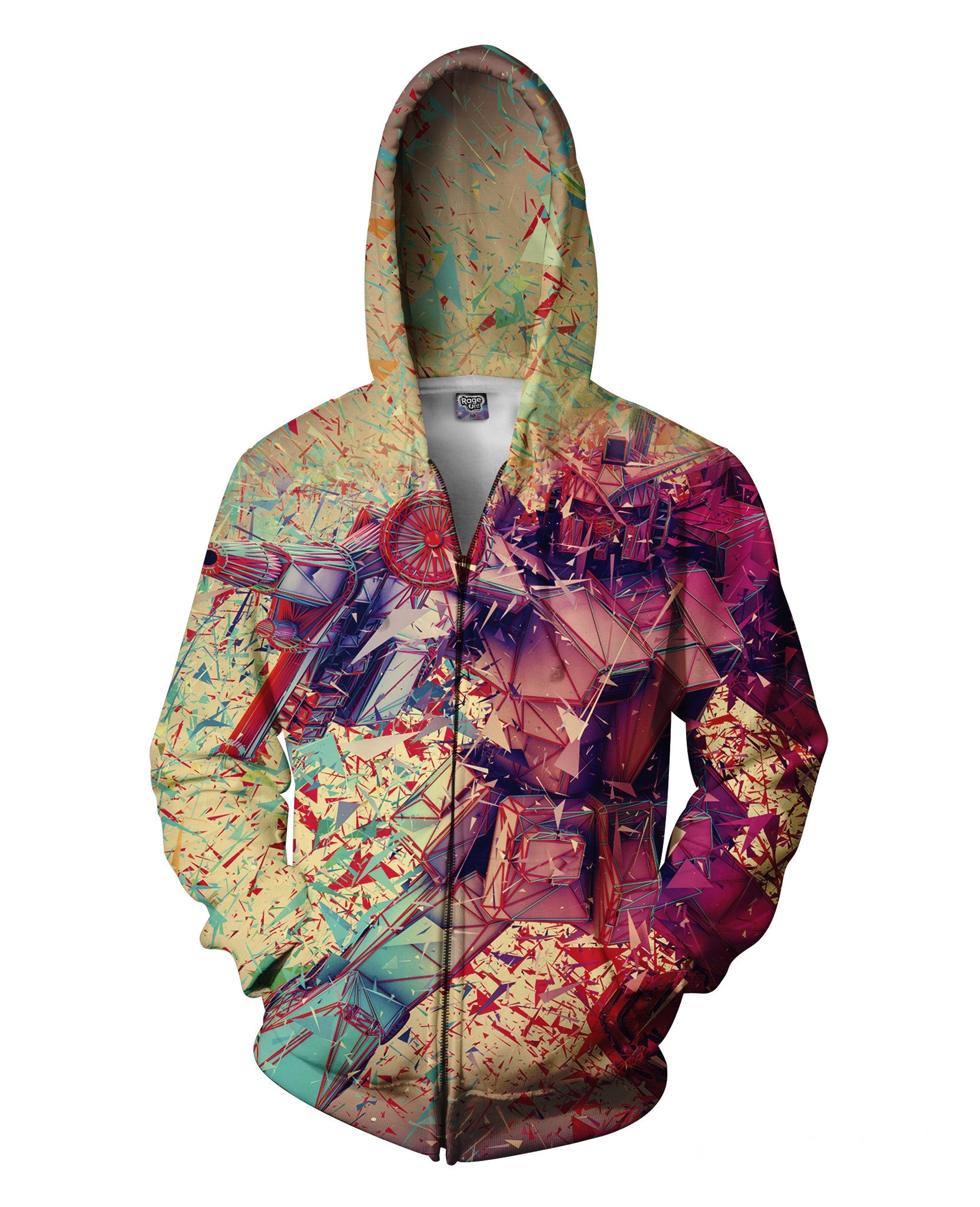 3D Transformers Zip-Up Hoodie