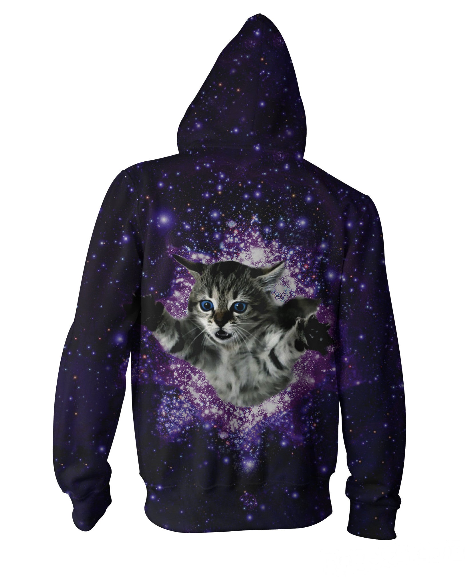 Kitty Glitter Zip-Up Hoodie