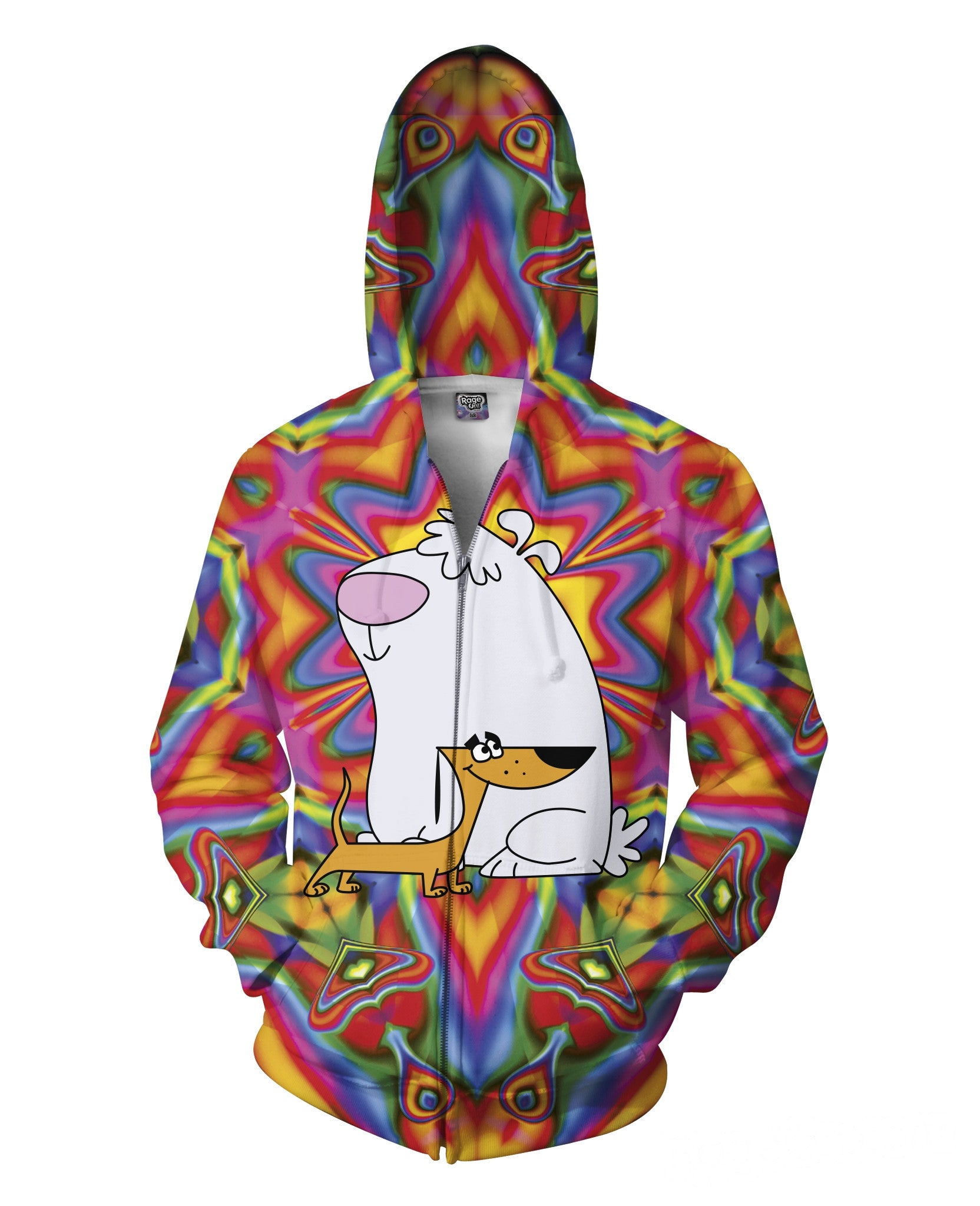 2 Stupid Dogs Zip-Up Hoodie