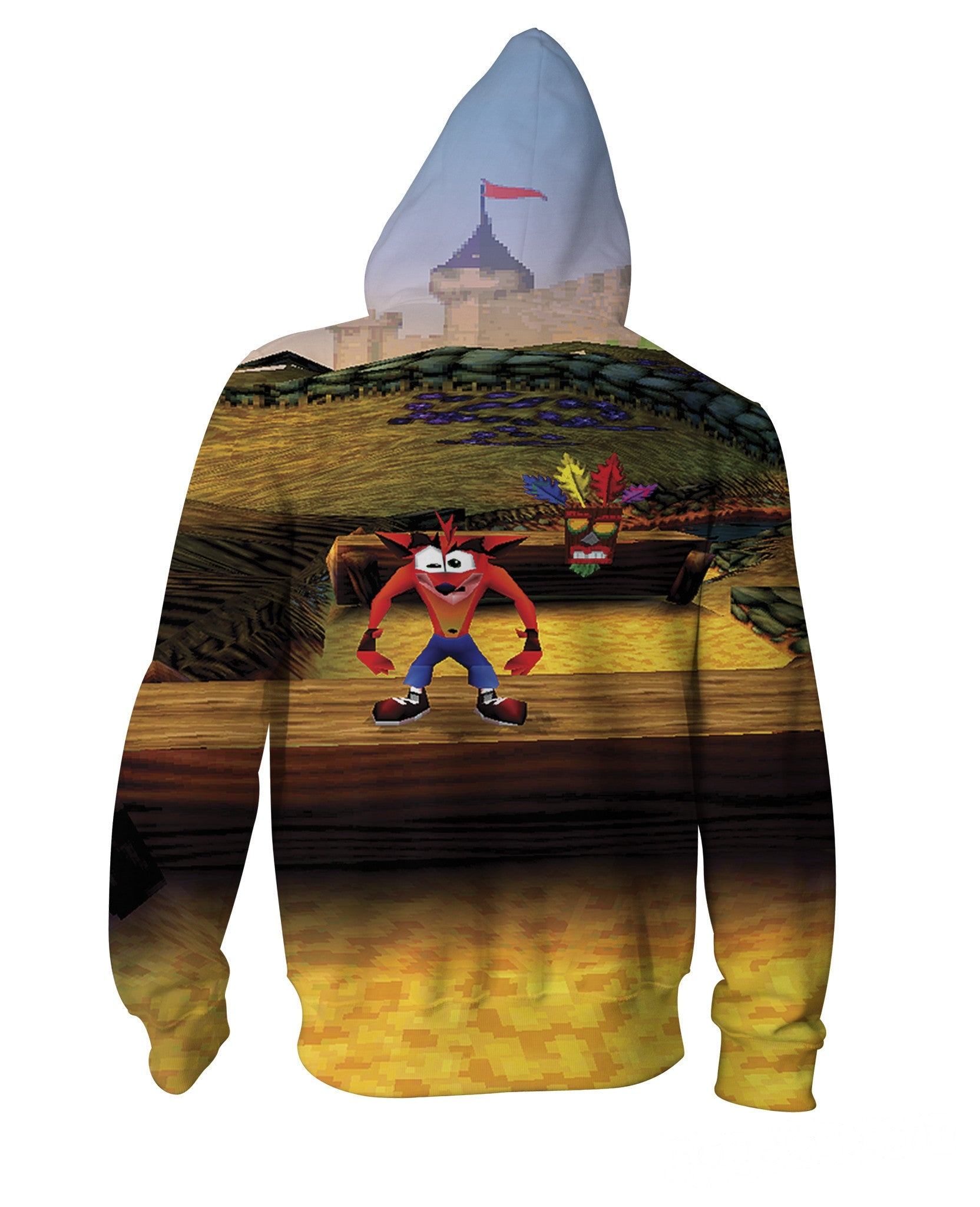 Crash Bandicoot Zip-Up Hoodie