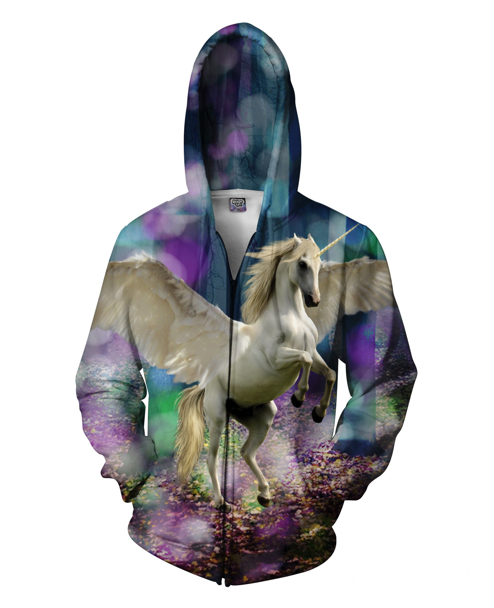 Unicorn Zip-Up Hoodie