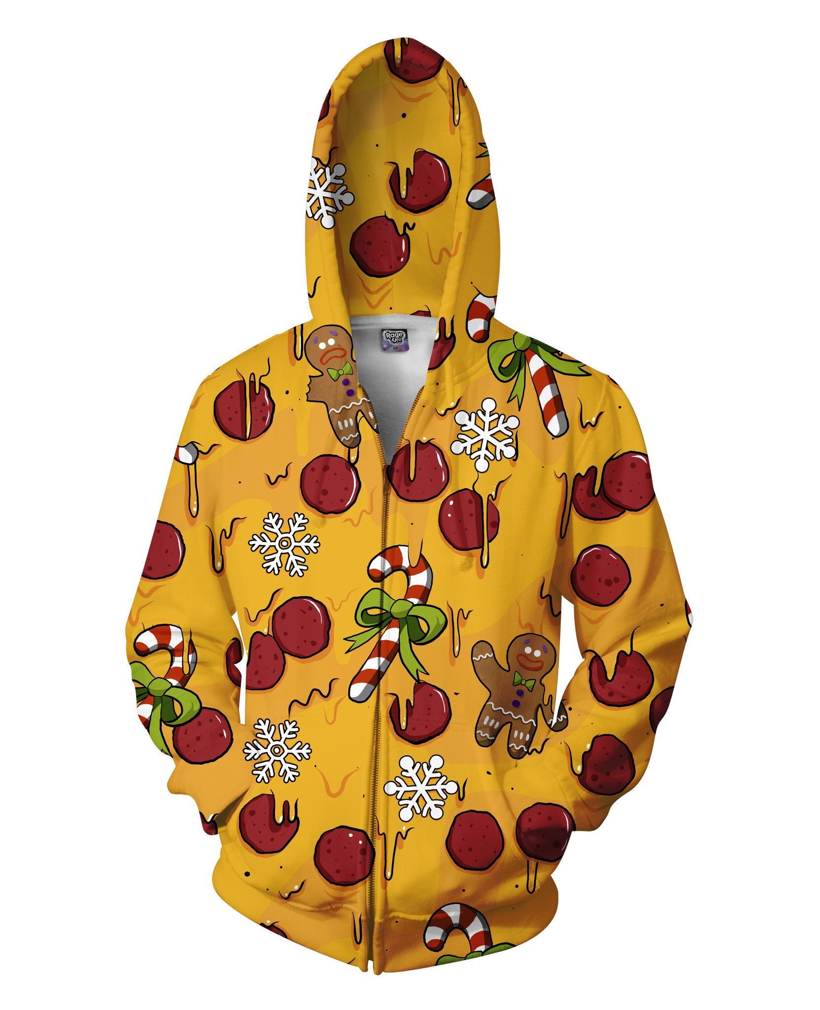 Have a Cheesy Christmas Zip-Up Hoodie