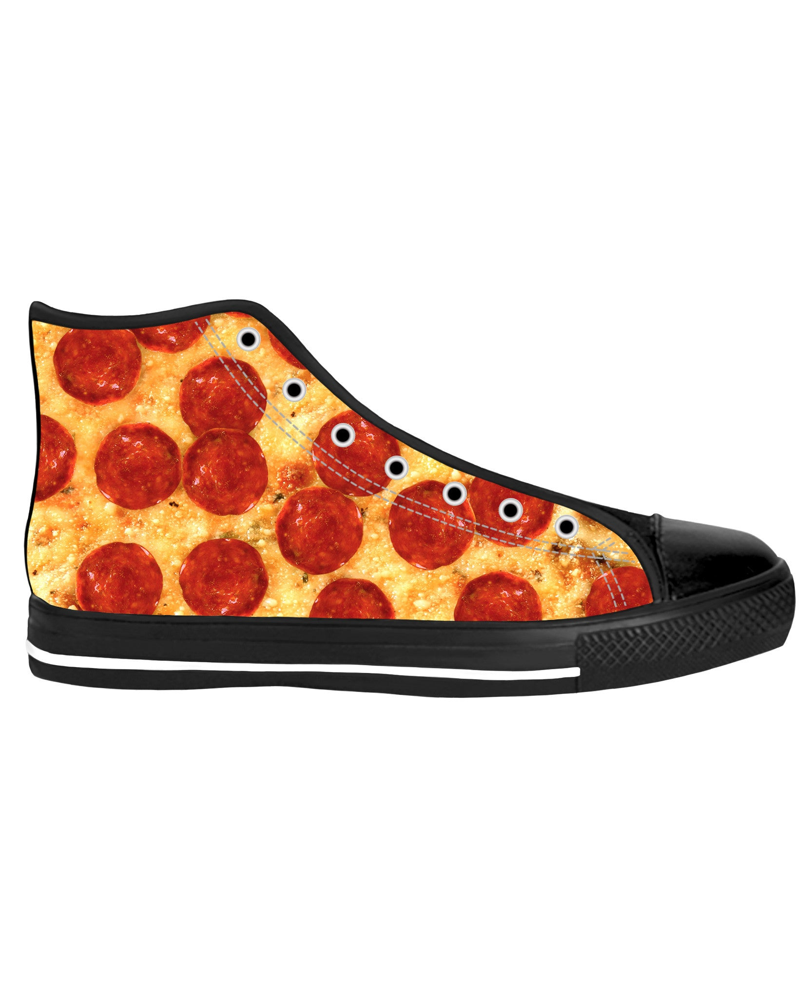 Pizza Black Sole High Tops