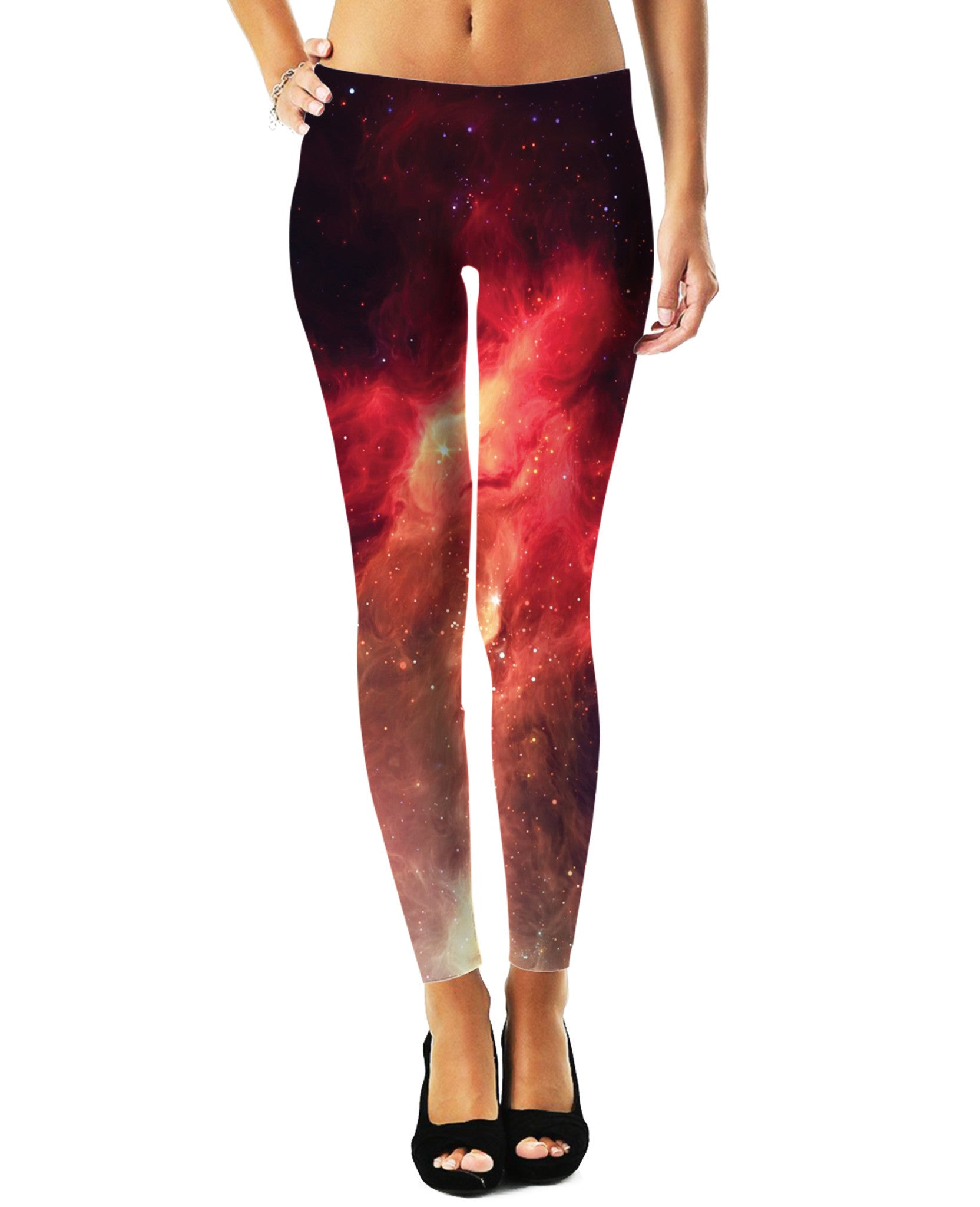 Crimson Nebula Leggings