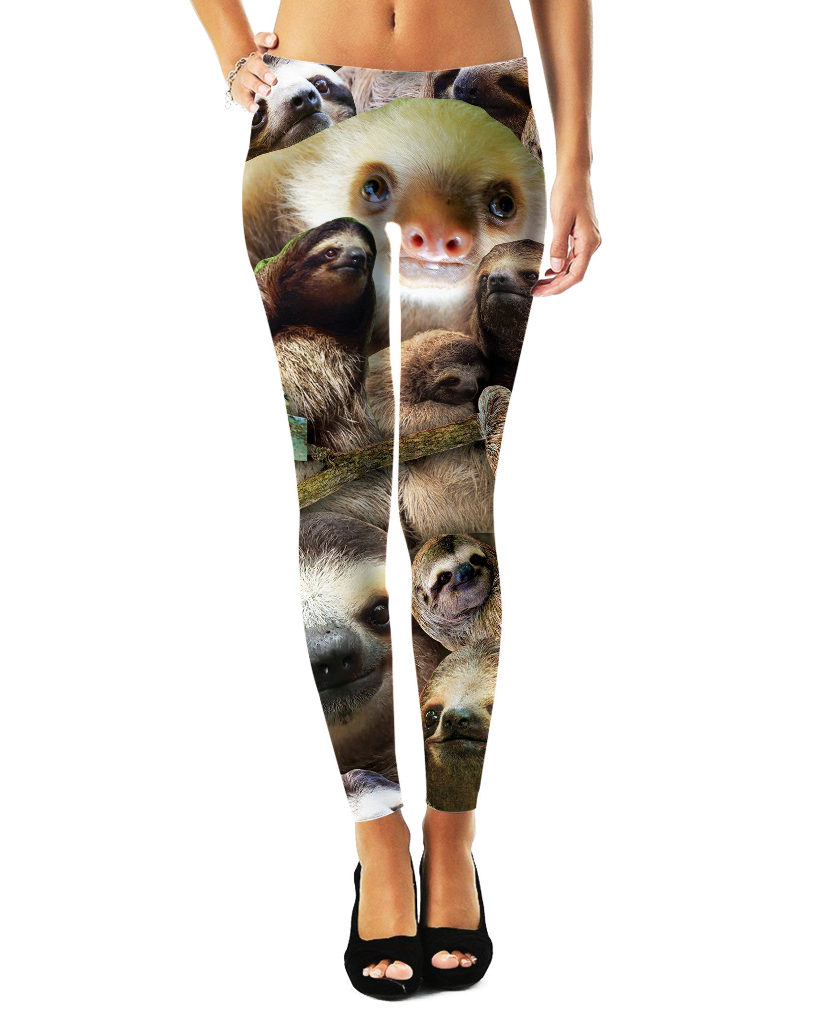 Sloth Collage Leggings