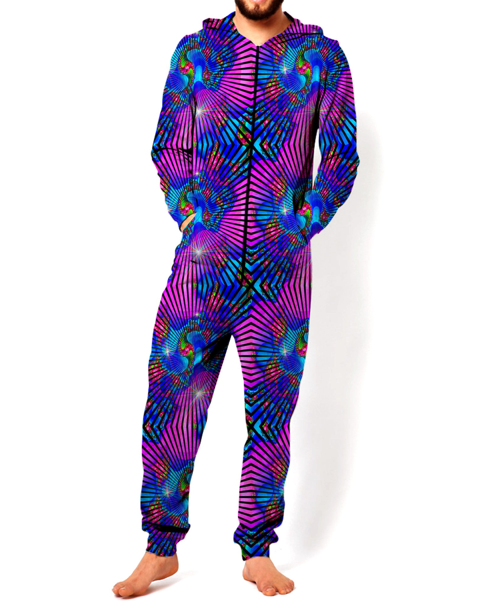 Galaxy Grid Onesie