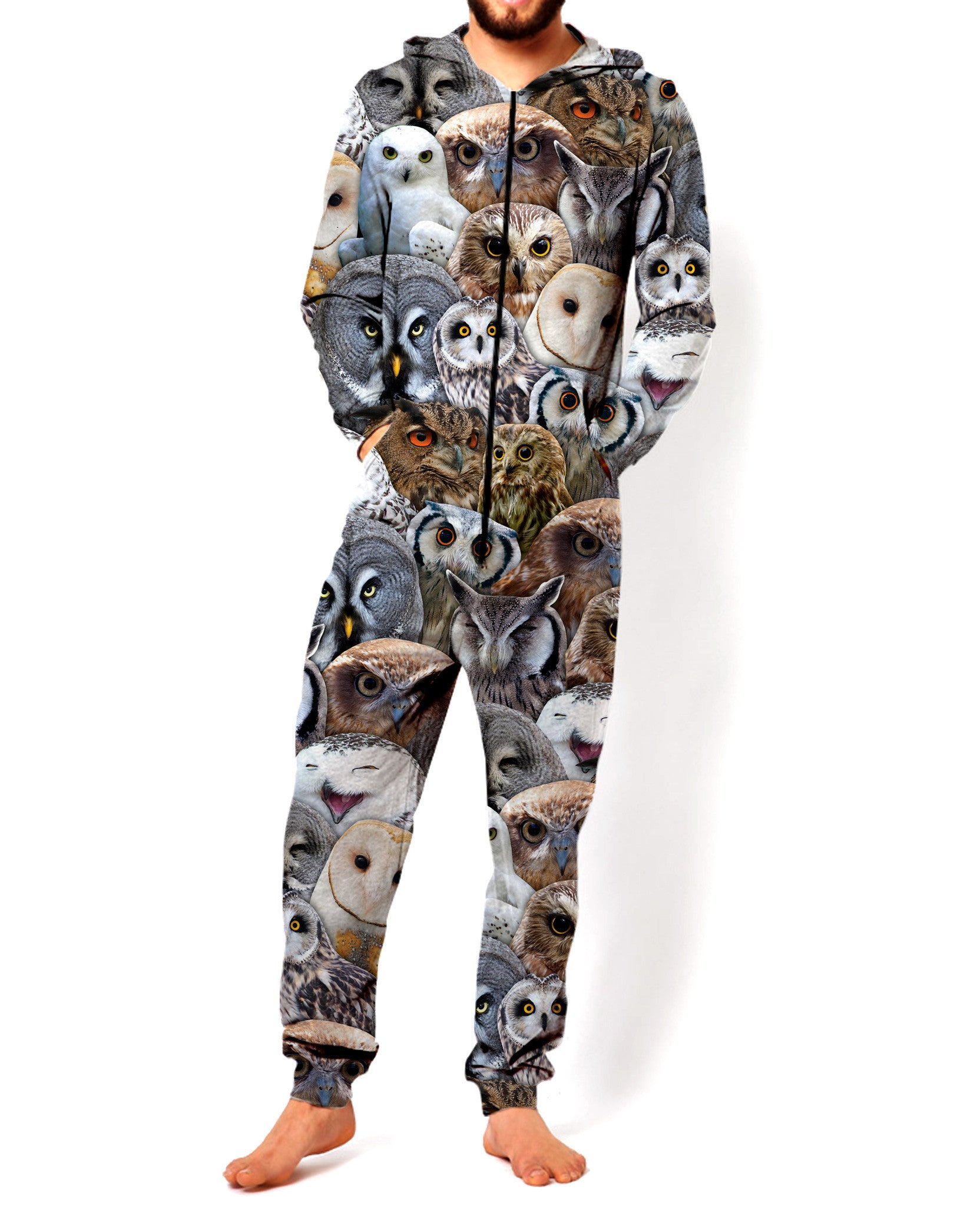 Owl Collage Onesie