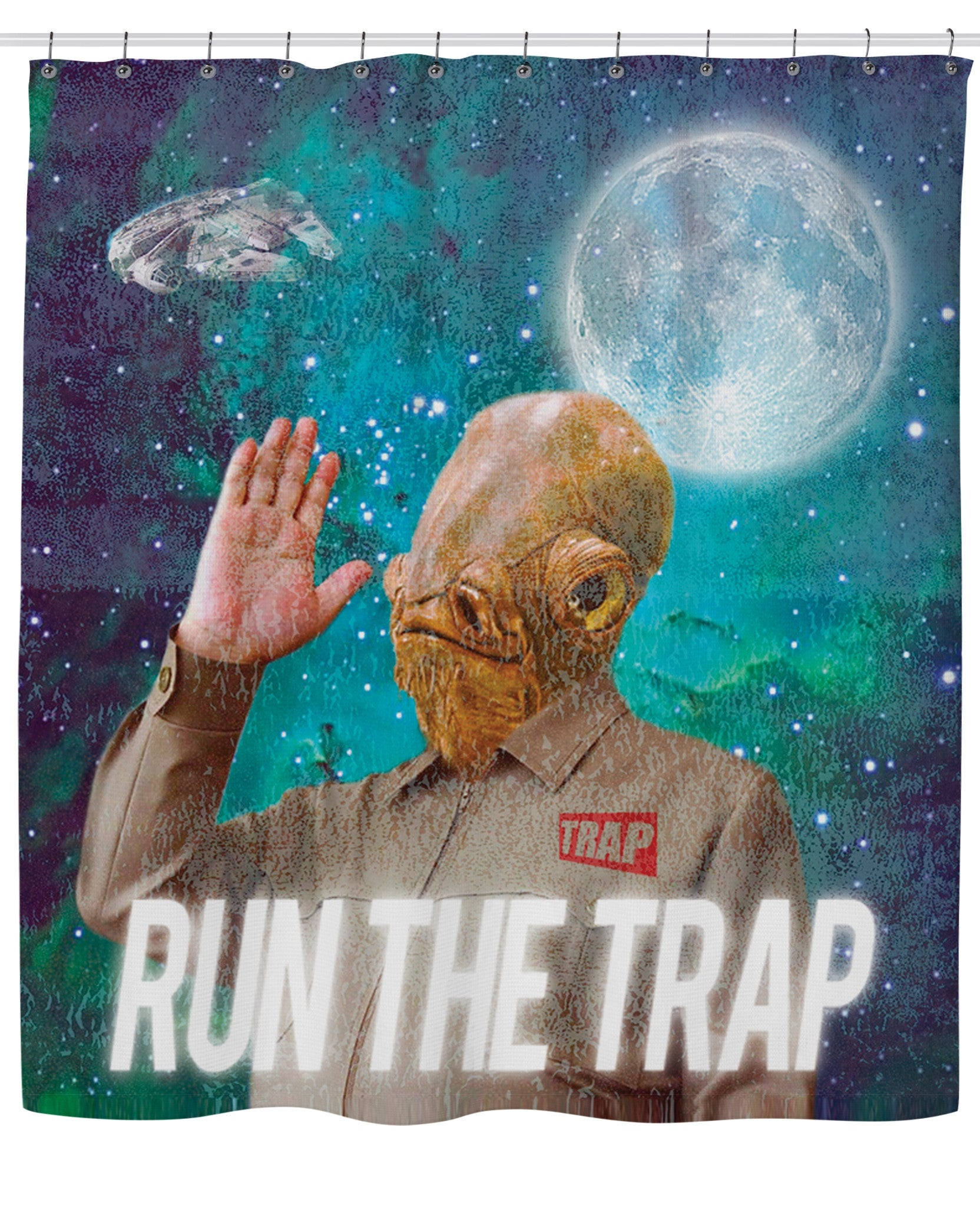 Admiral Ackbar TRAP Shower Curtain