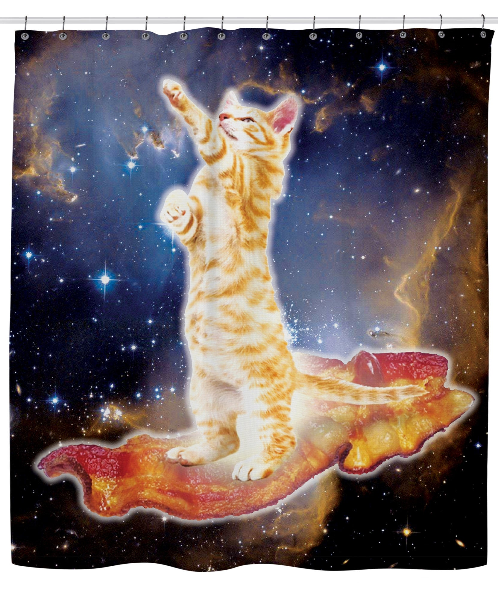 Bacon Cat Shower Curtain