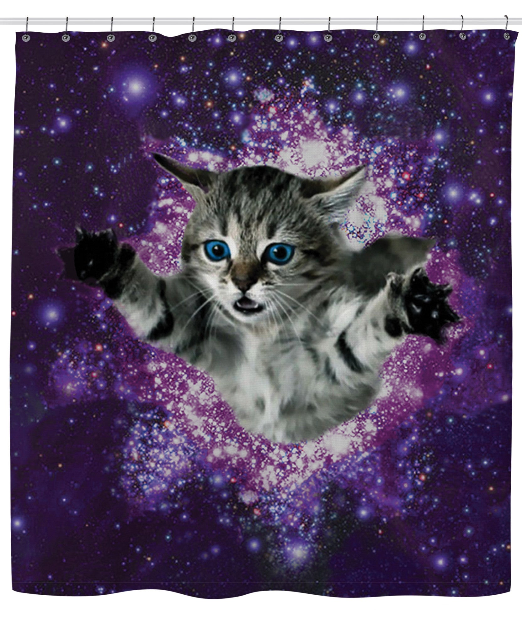 Kitty Glitter Shower Curtain