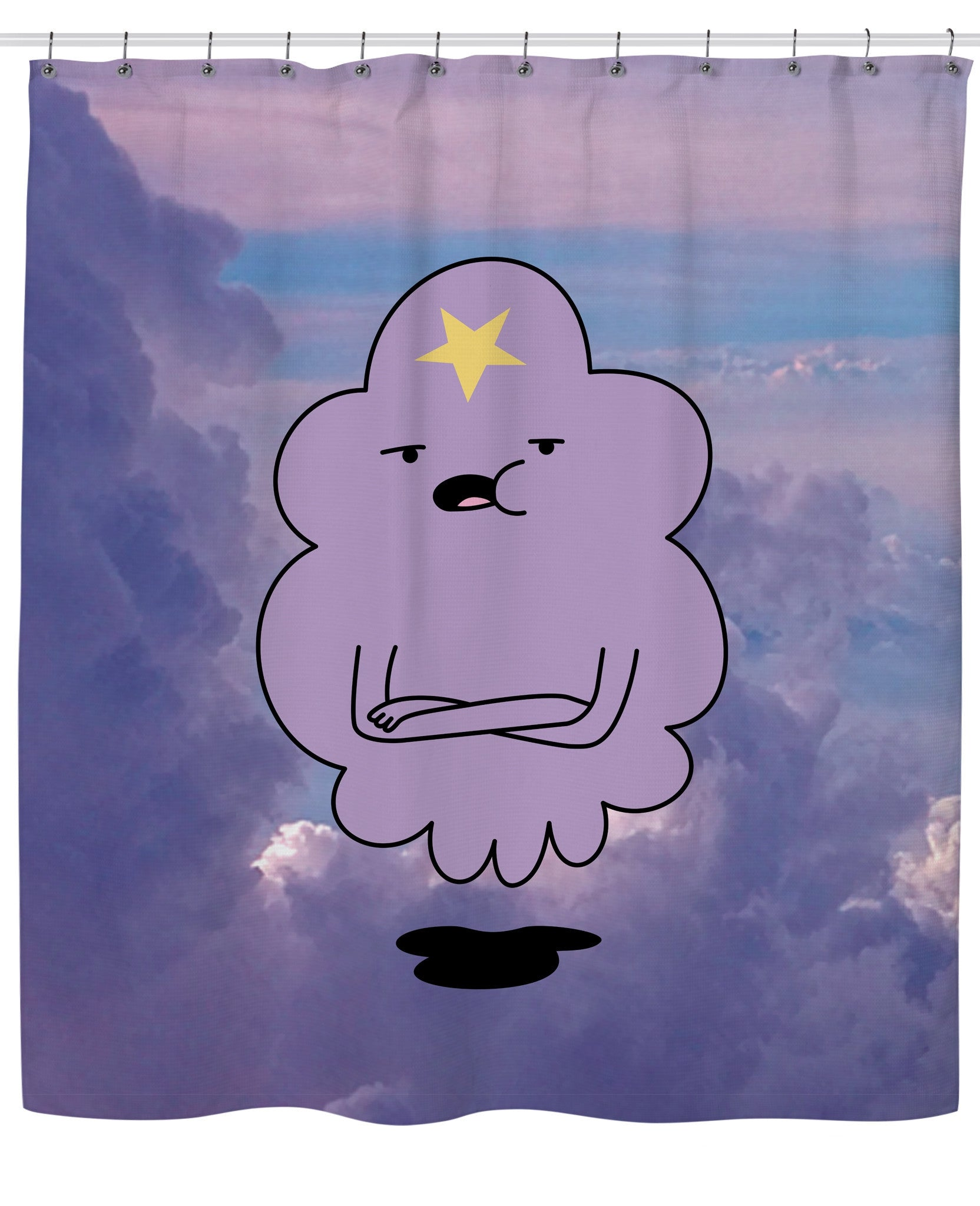 Lumpy Space Princess Shower Curtain