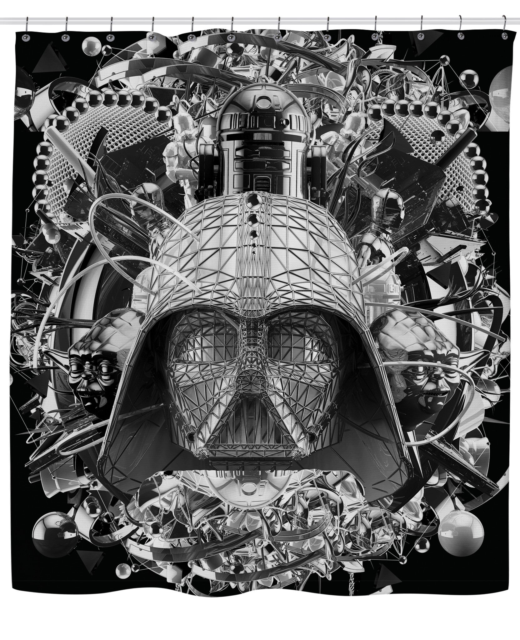 Star Wars B&W Shower Curtain