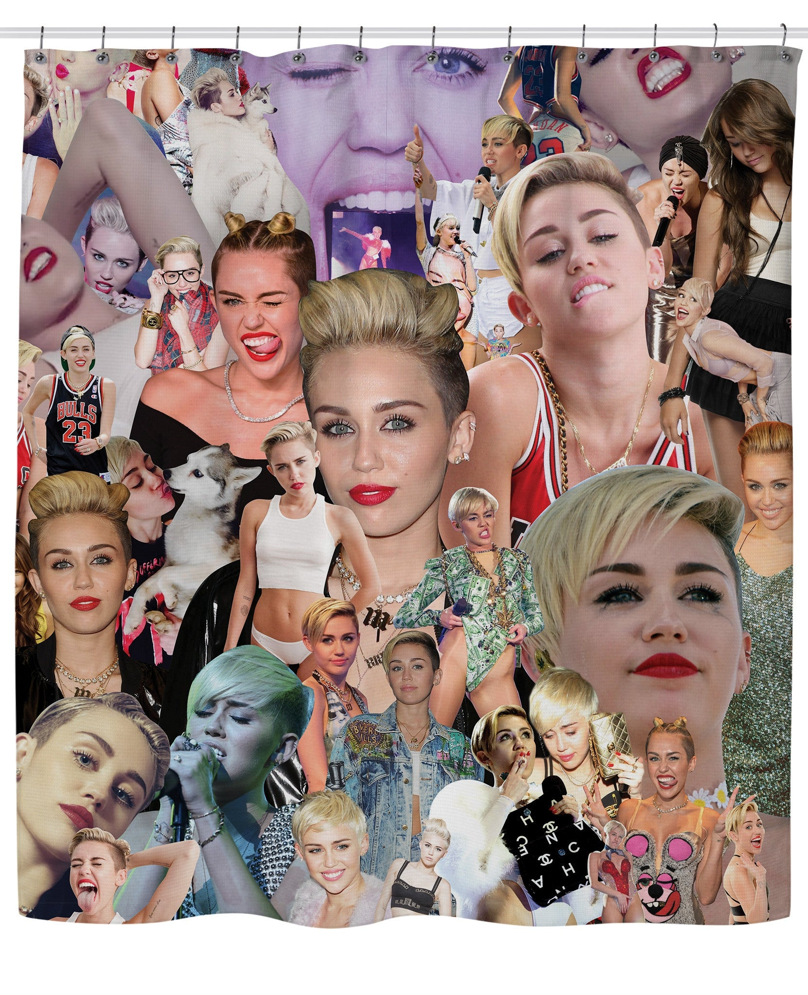 Miley Cyrus Paparazzi Shower Curtain
