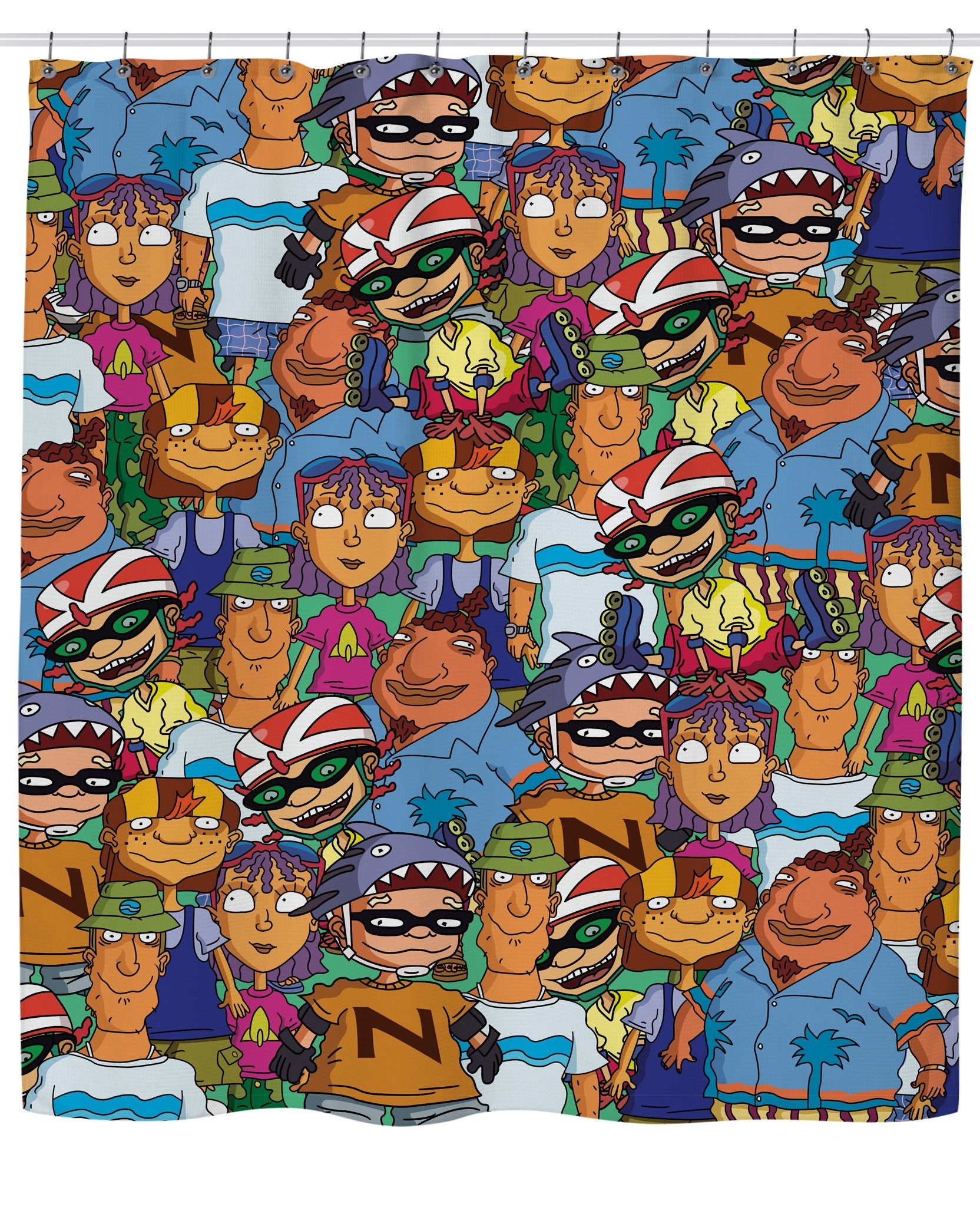 Rocket Power Shower Curtain