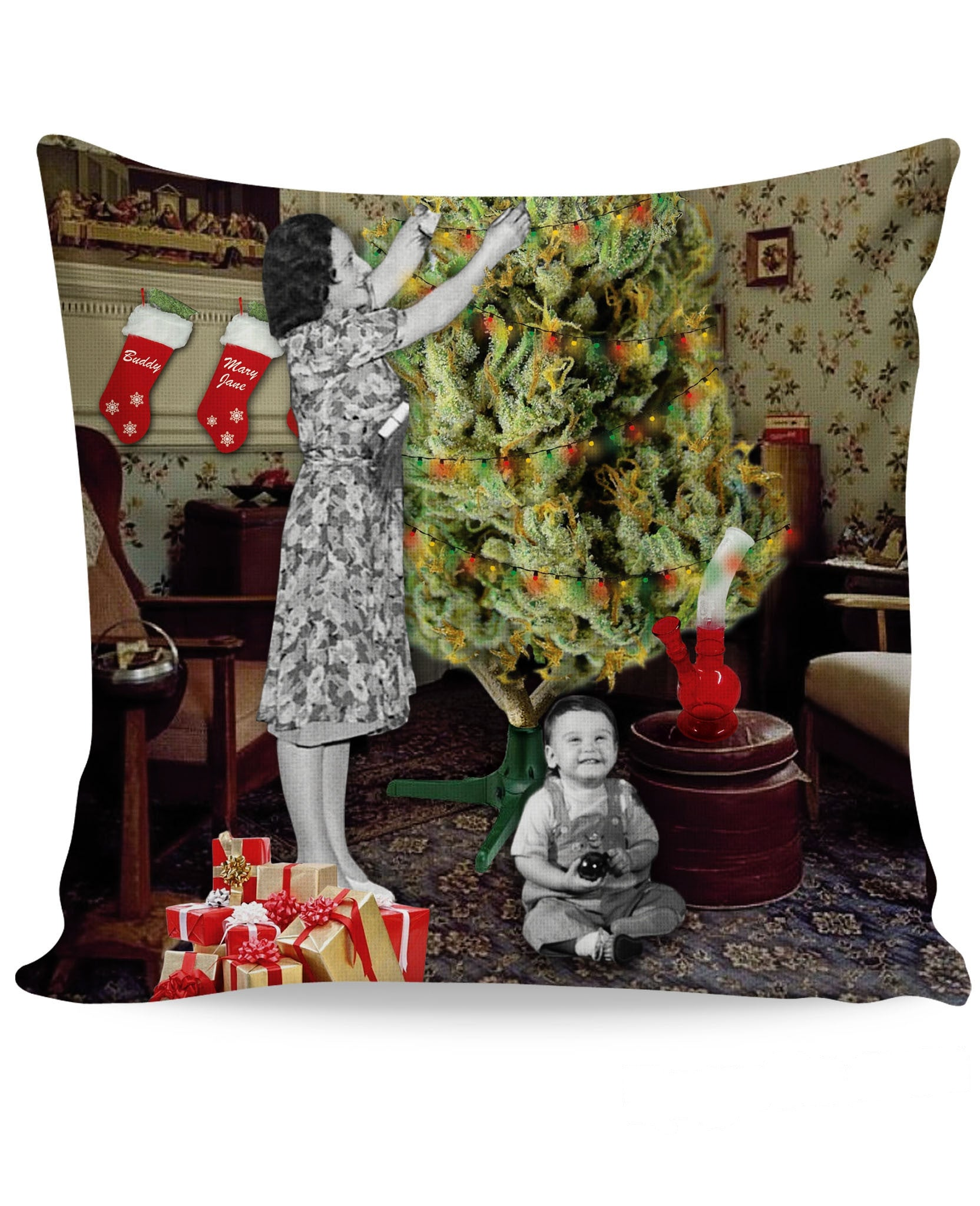Merry Kushmas Couch Pillow