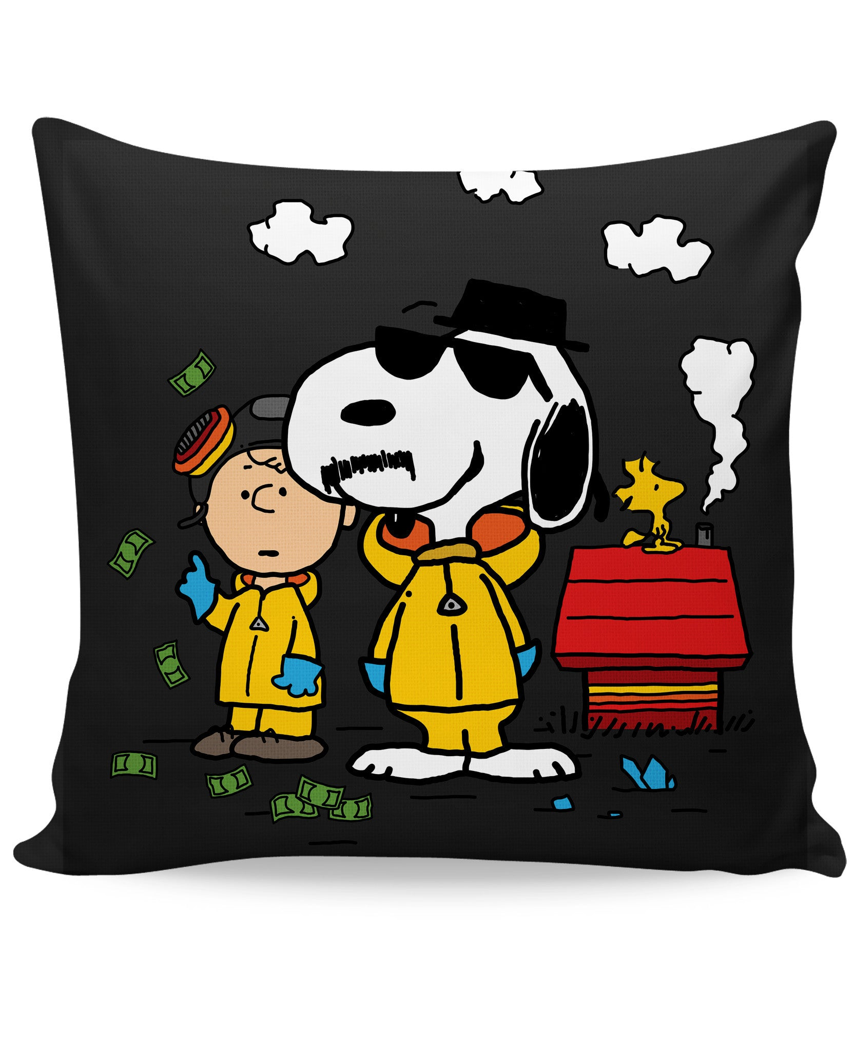 Breaking Snoopy Couch Pillow