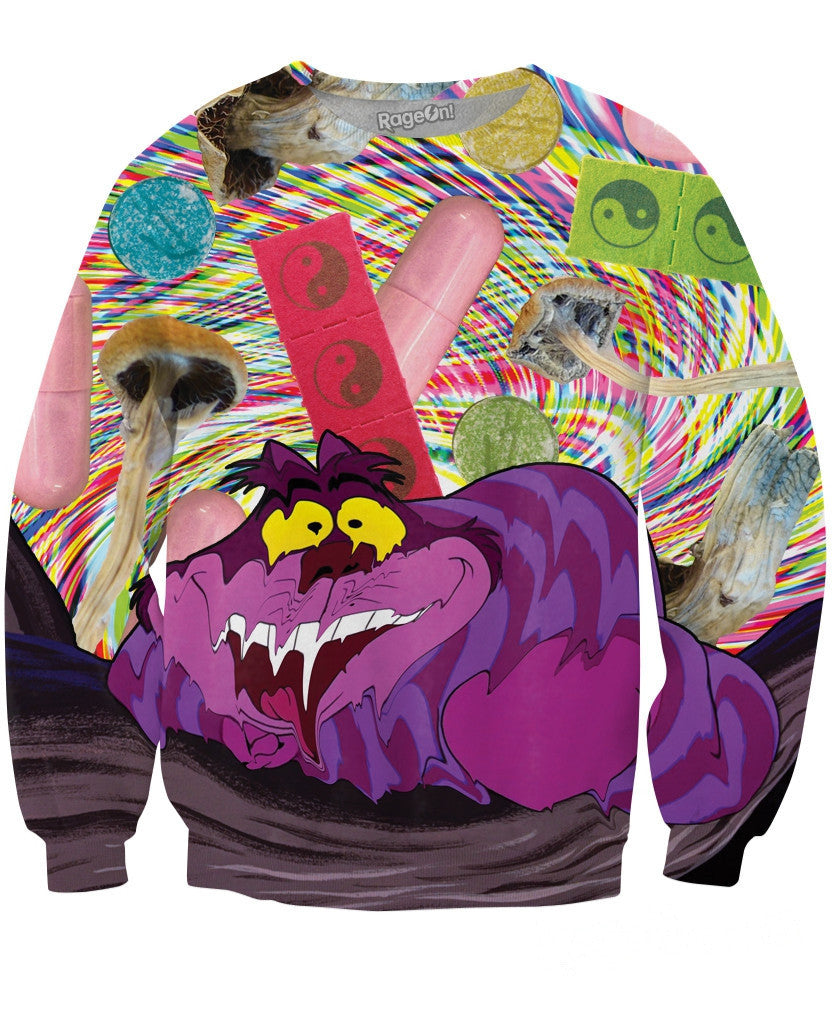Cheshire Cat Crewneck Sweatshirt