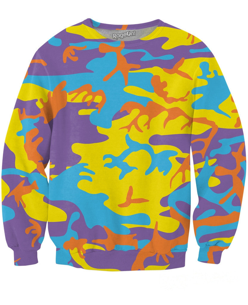 Pop Camo Crewneck Sweatshirt