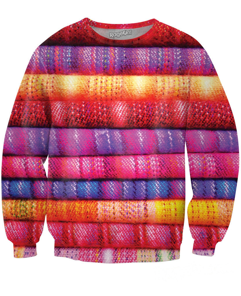 Layered Fabric Crewneck Sweatshirt
