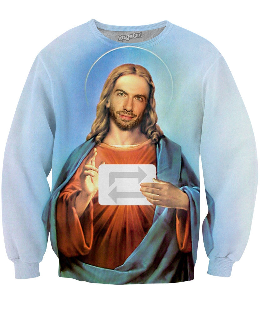 David Karp is God Crewneck Sweatshirt