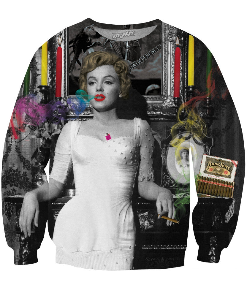 Marilyn Smoking Crewneck Sweatshirt