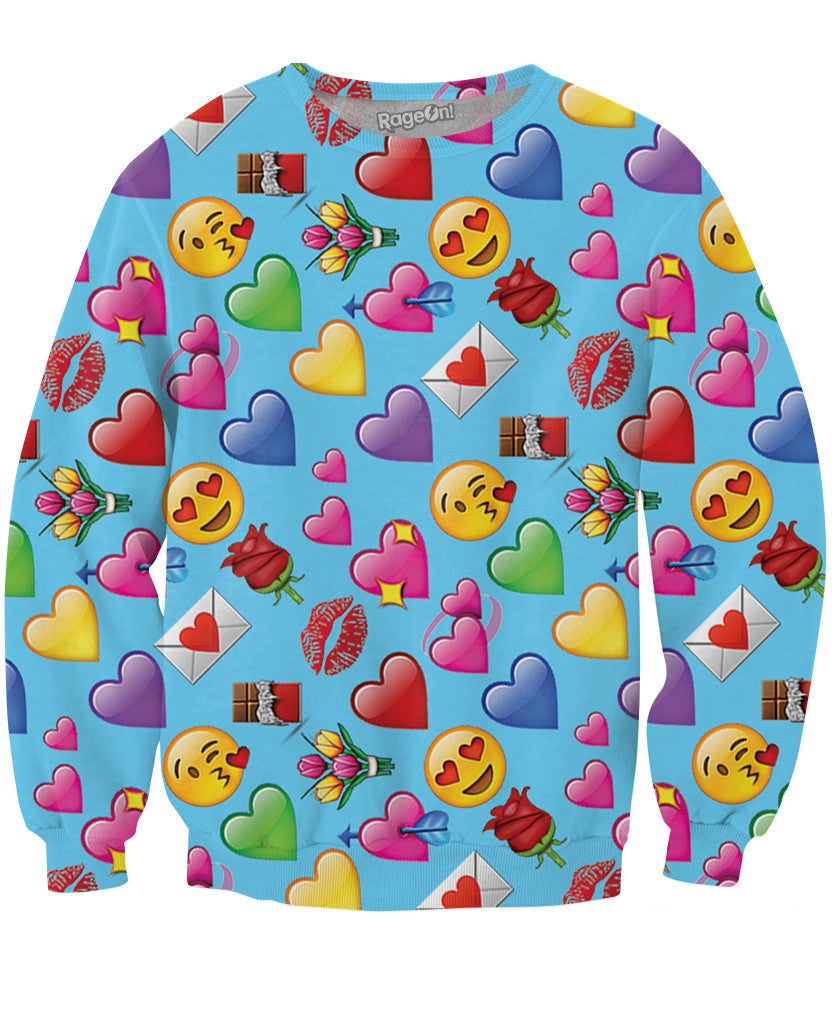 Romantic Emojis Crewneck Sweatshirt