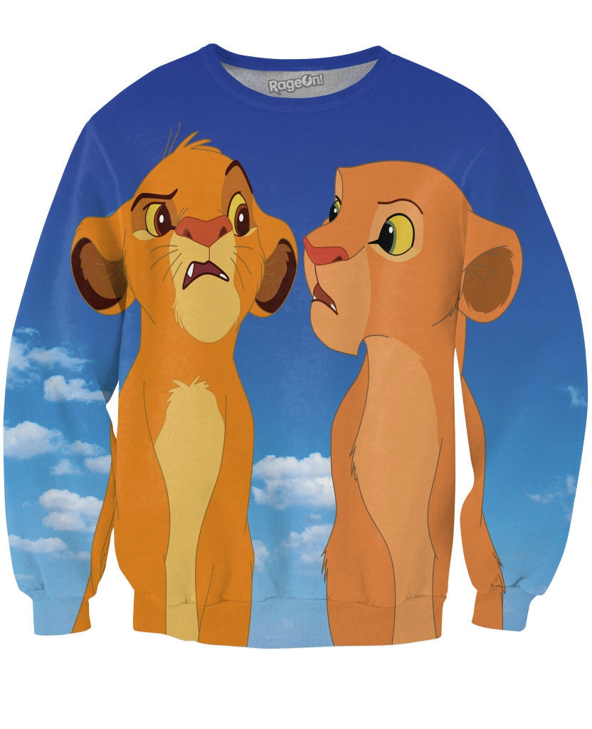 Simba and Nala Crewneck Sweatshirt