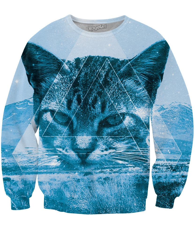 Triangle Cat Crewneck Sweatshirt