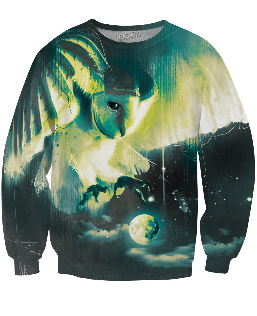 Space Owl Crewneck Sweatshirt