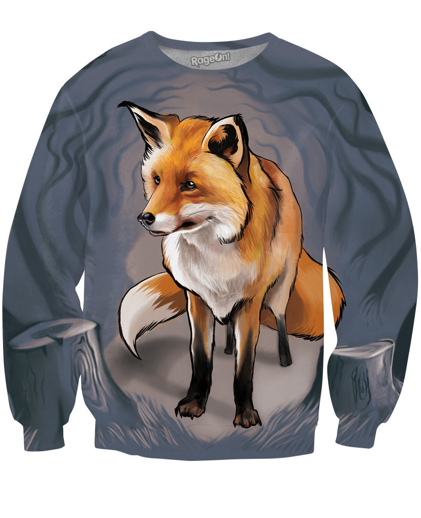 Fox in the Woods Crewneck Sweatshirt
