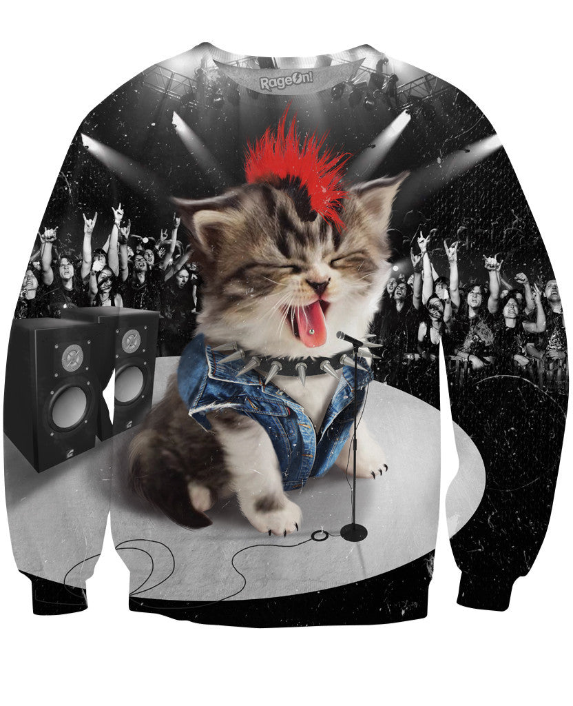 Rock Kitten Crewneck Sweatshirt