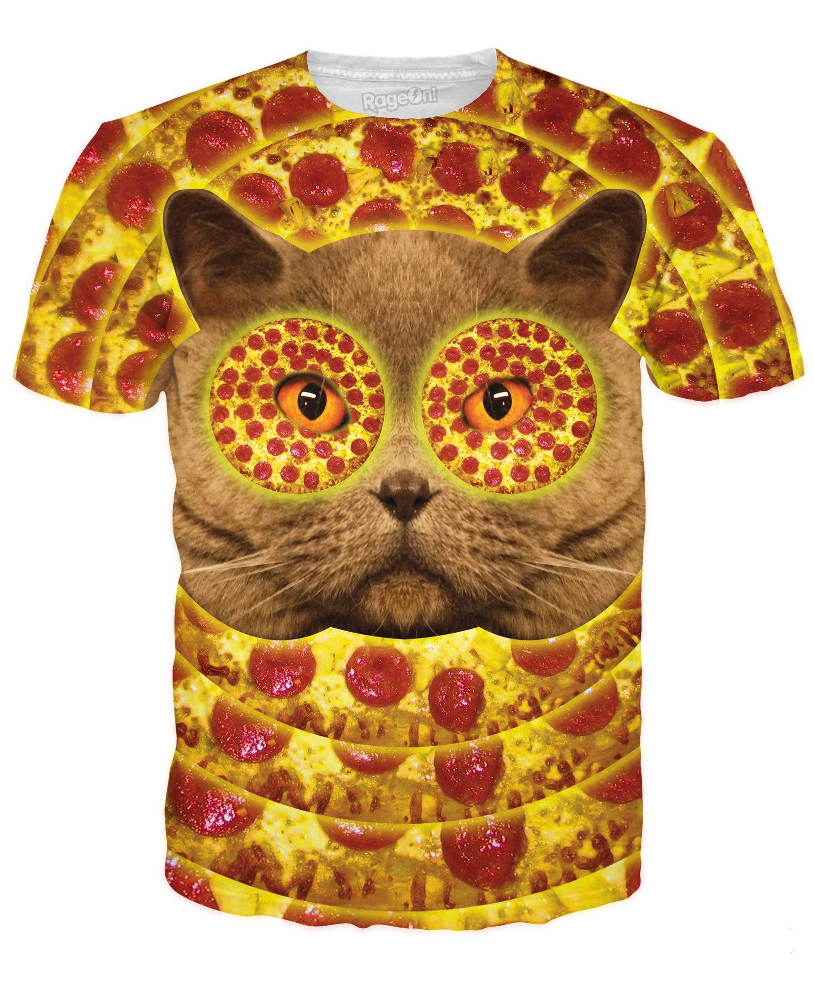 Pizza Face Cat T-Shirt