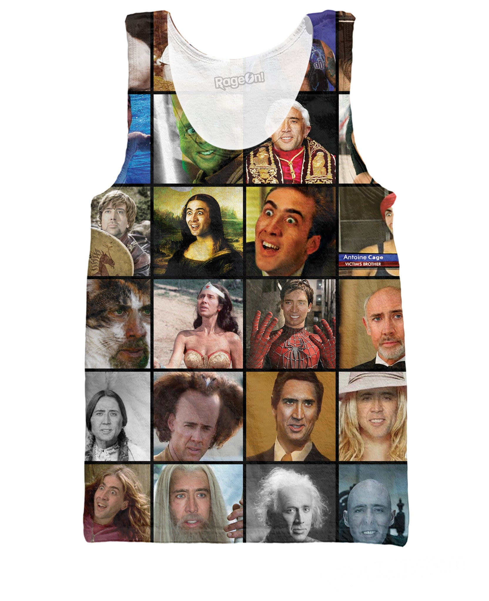 Nicolas Cage Rage Faces Tank Top