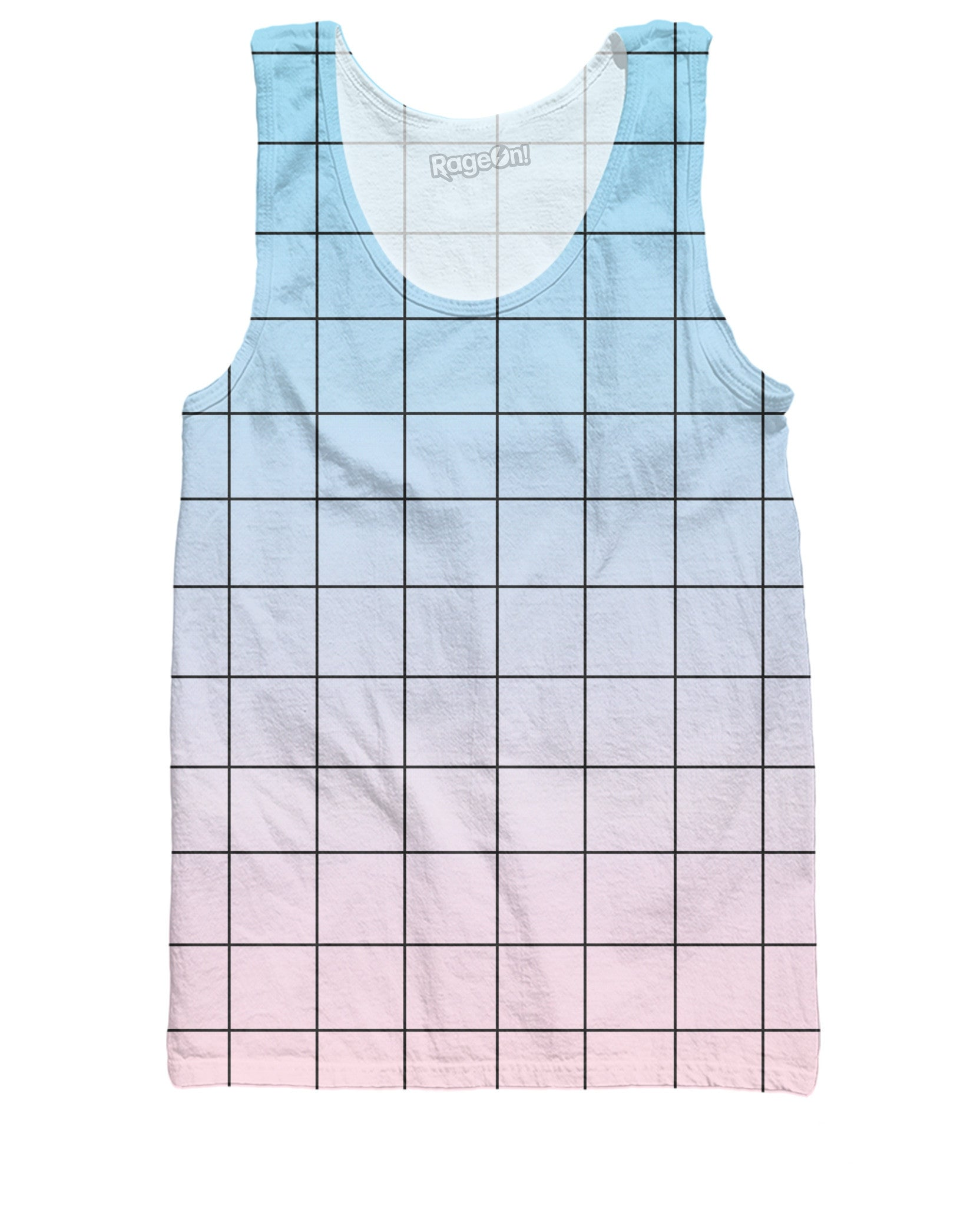 Blue Pink Grid Tank Top