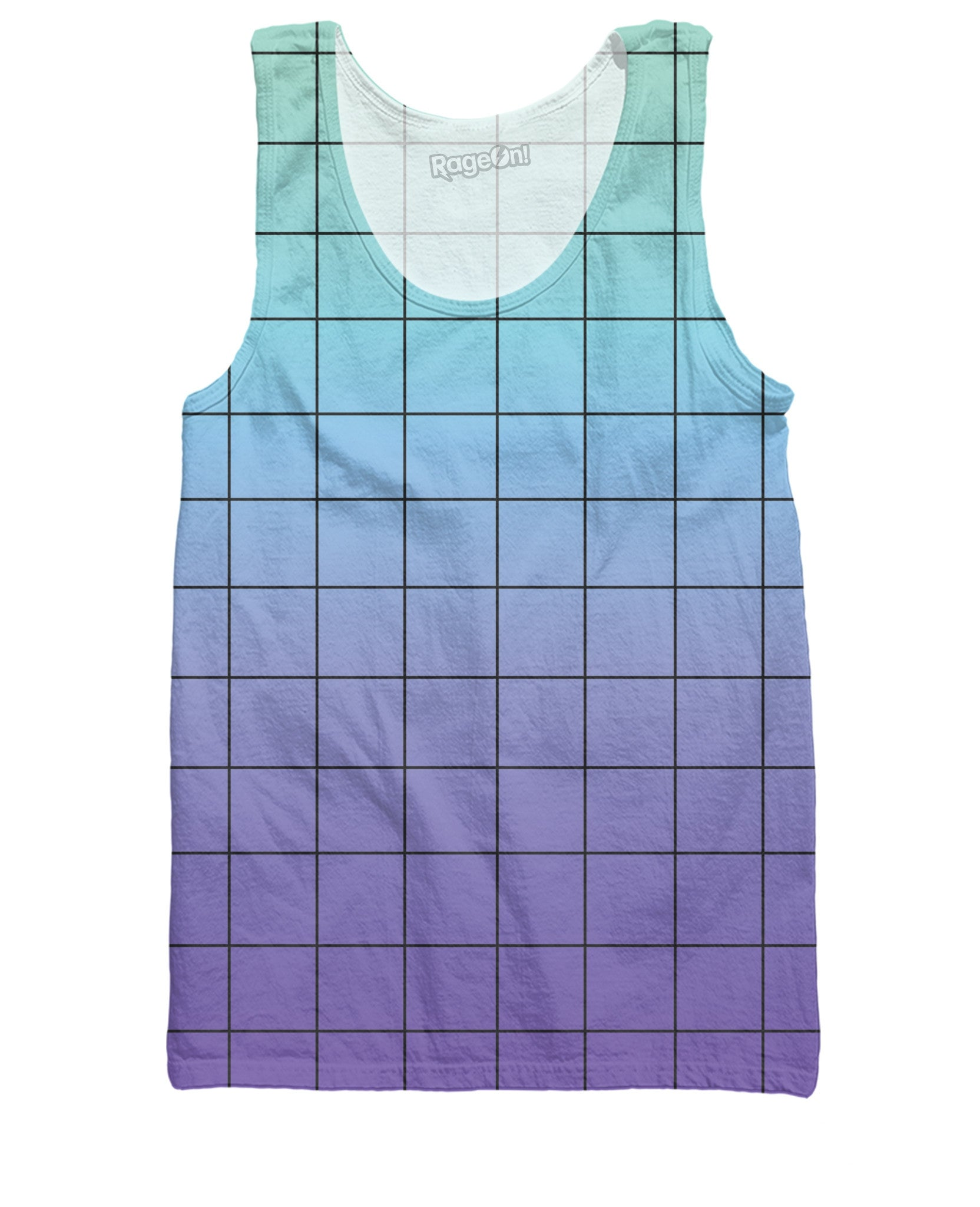 Blue Purple Grid Tank Top