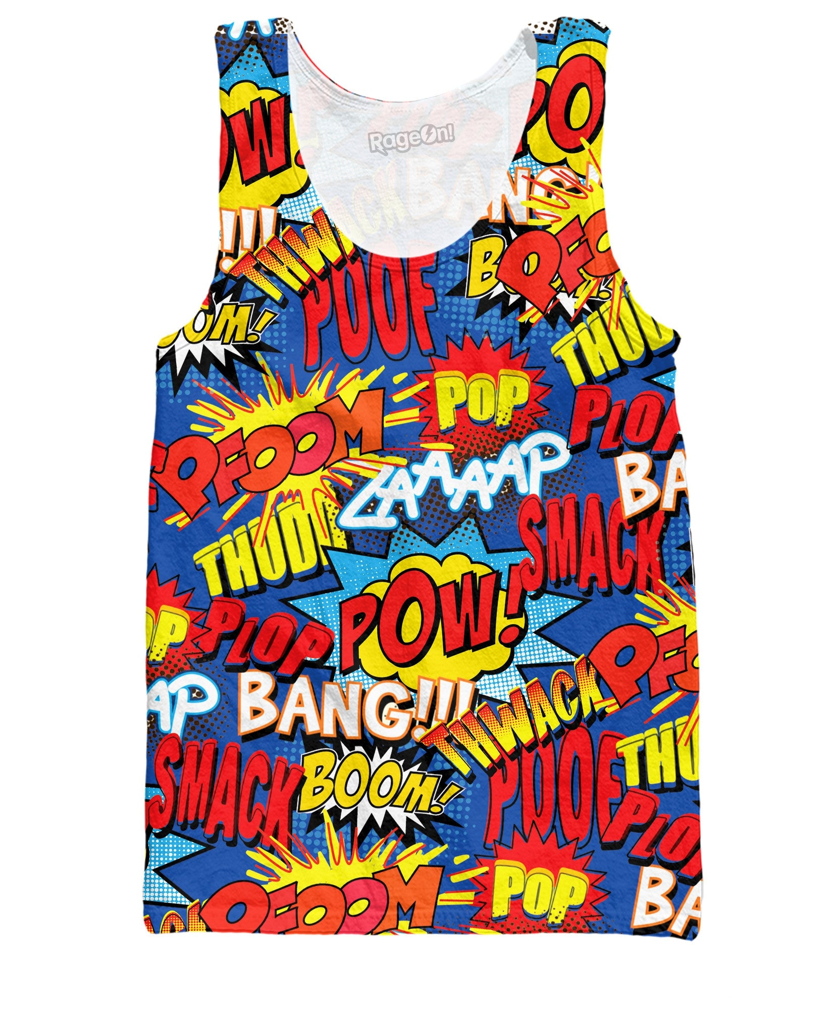 Comic Book Action Words Tank Top