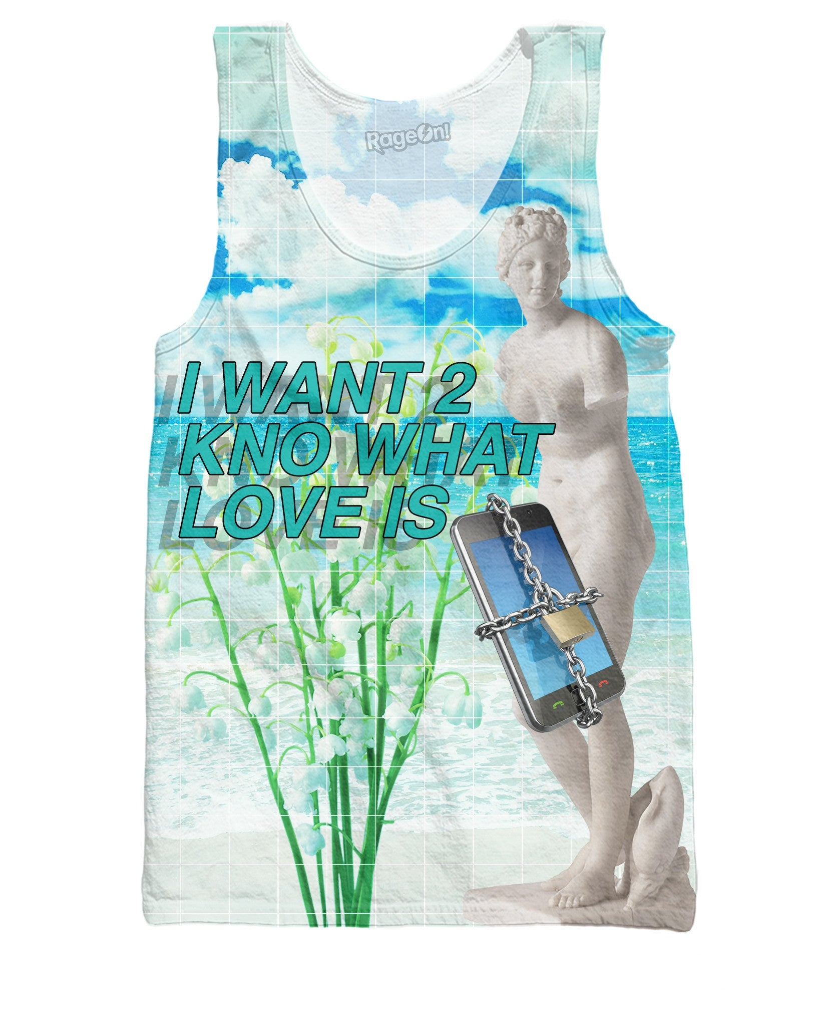 I Want 2 Kno What Love Is Tank Top