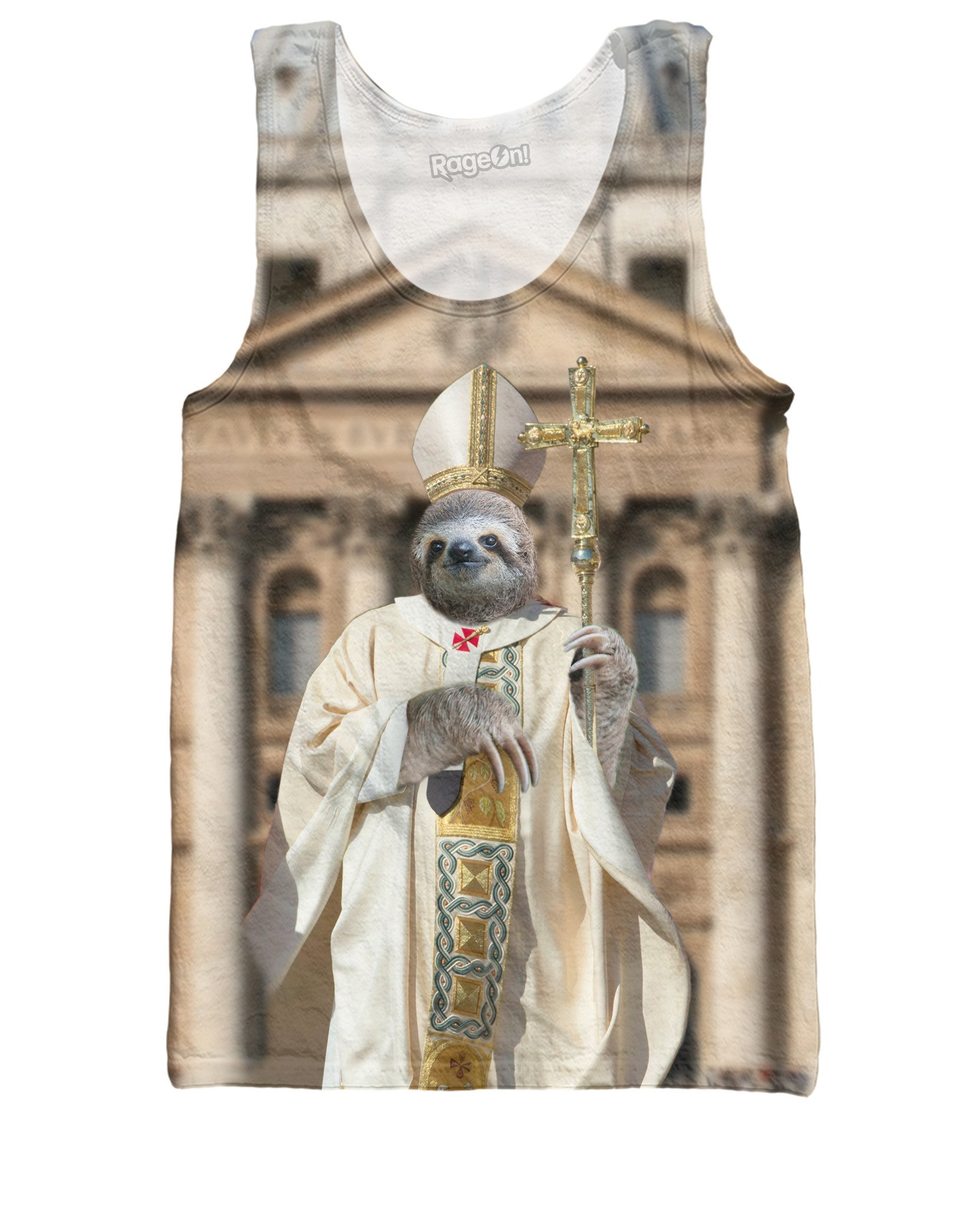 Sloth Pope Tank Top