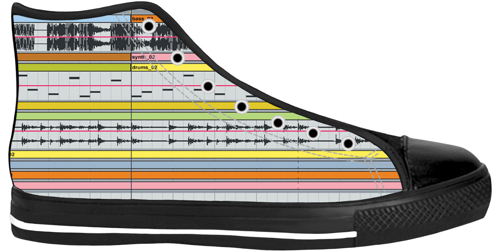 Ableton Live Black Sole High Tops