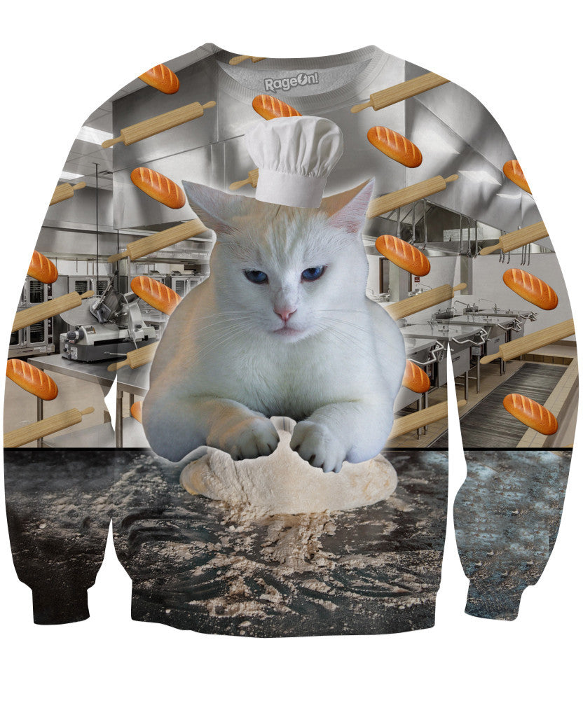 Cat Baking Bread Sweatshirt