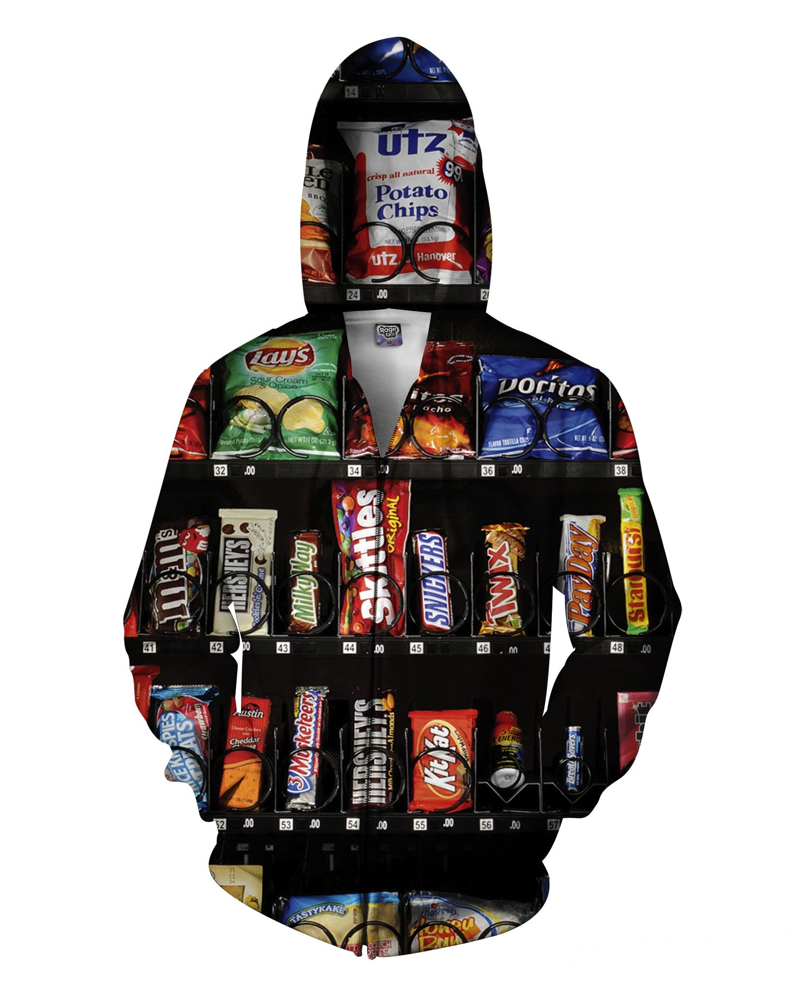 Vending Machine Zip-Up Hoodie