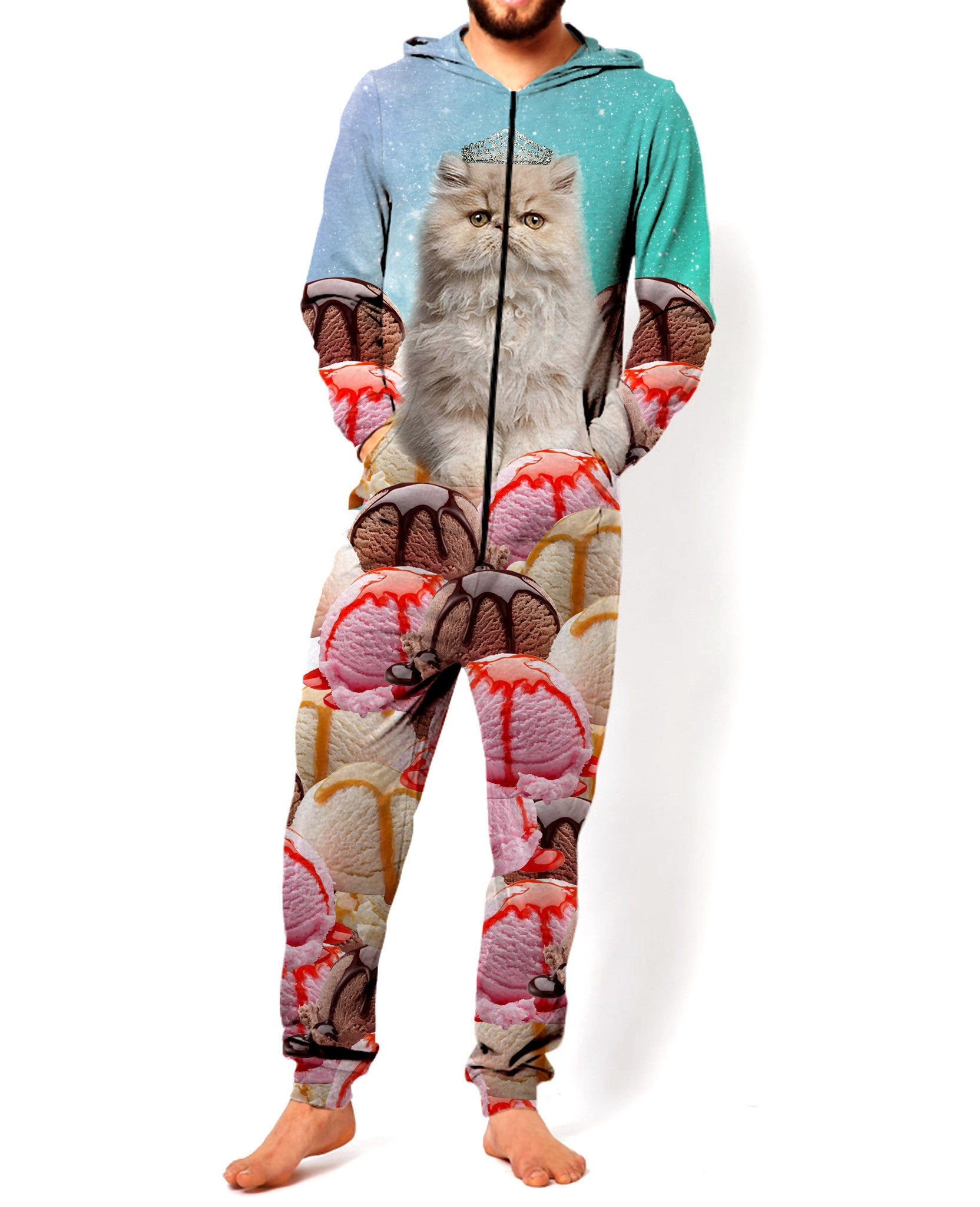 Princess Ice Cream Space Cat Onesie