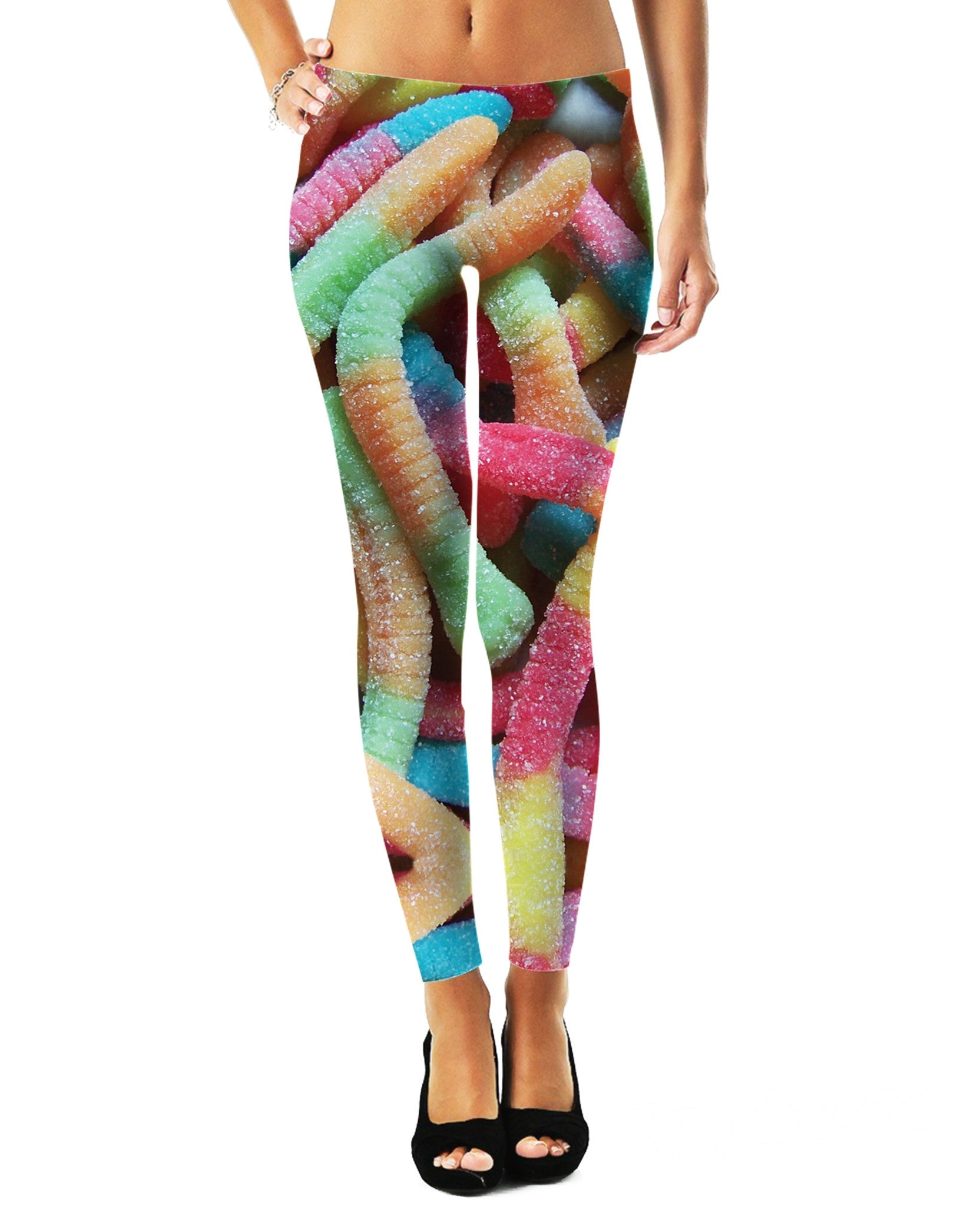 Sour Gummy Worms Leggings